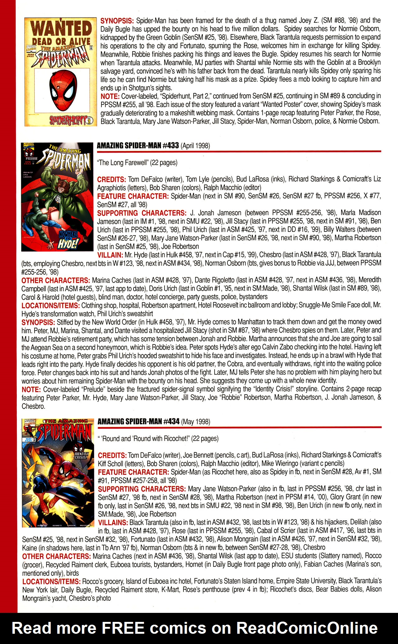 Read online Official Index to the Marvel Universe comic -  Issue #10 - 22