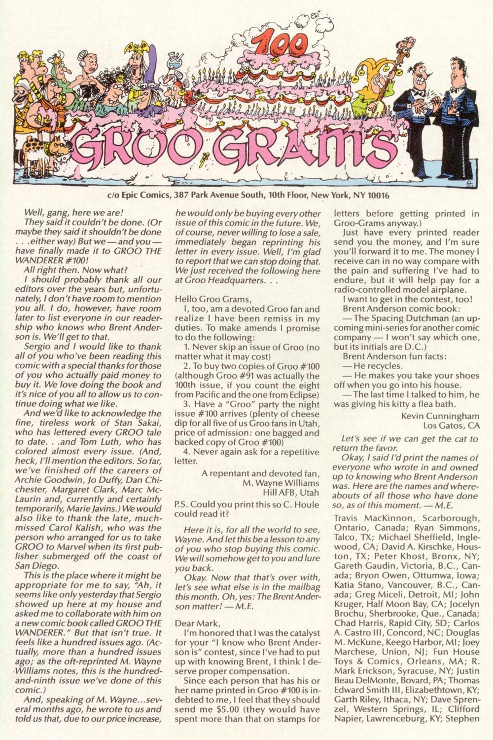 Read online Sergio Aragonés Groo the Wanderer comic -  Issue #100 - 46