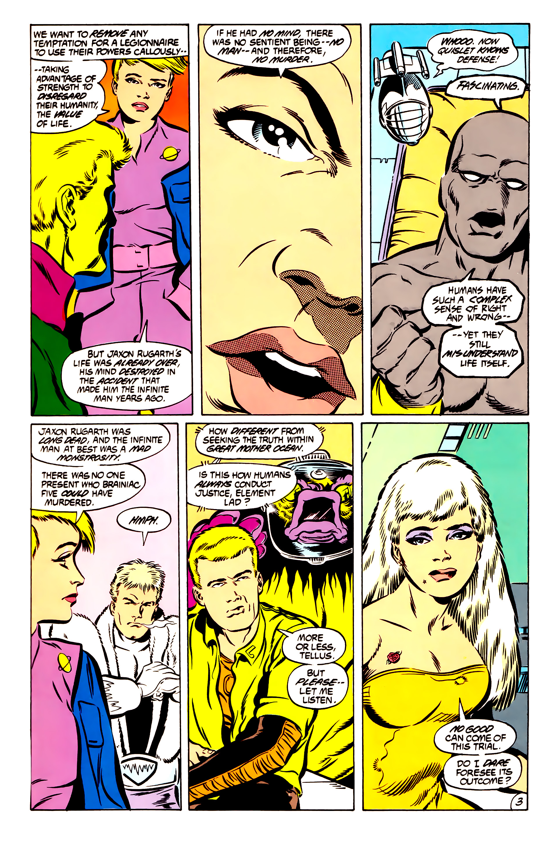 Legion of Super-Heroes (1984) 51 Page 3