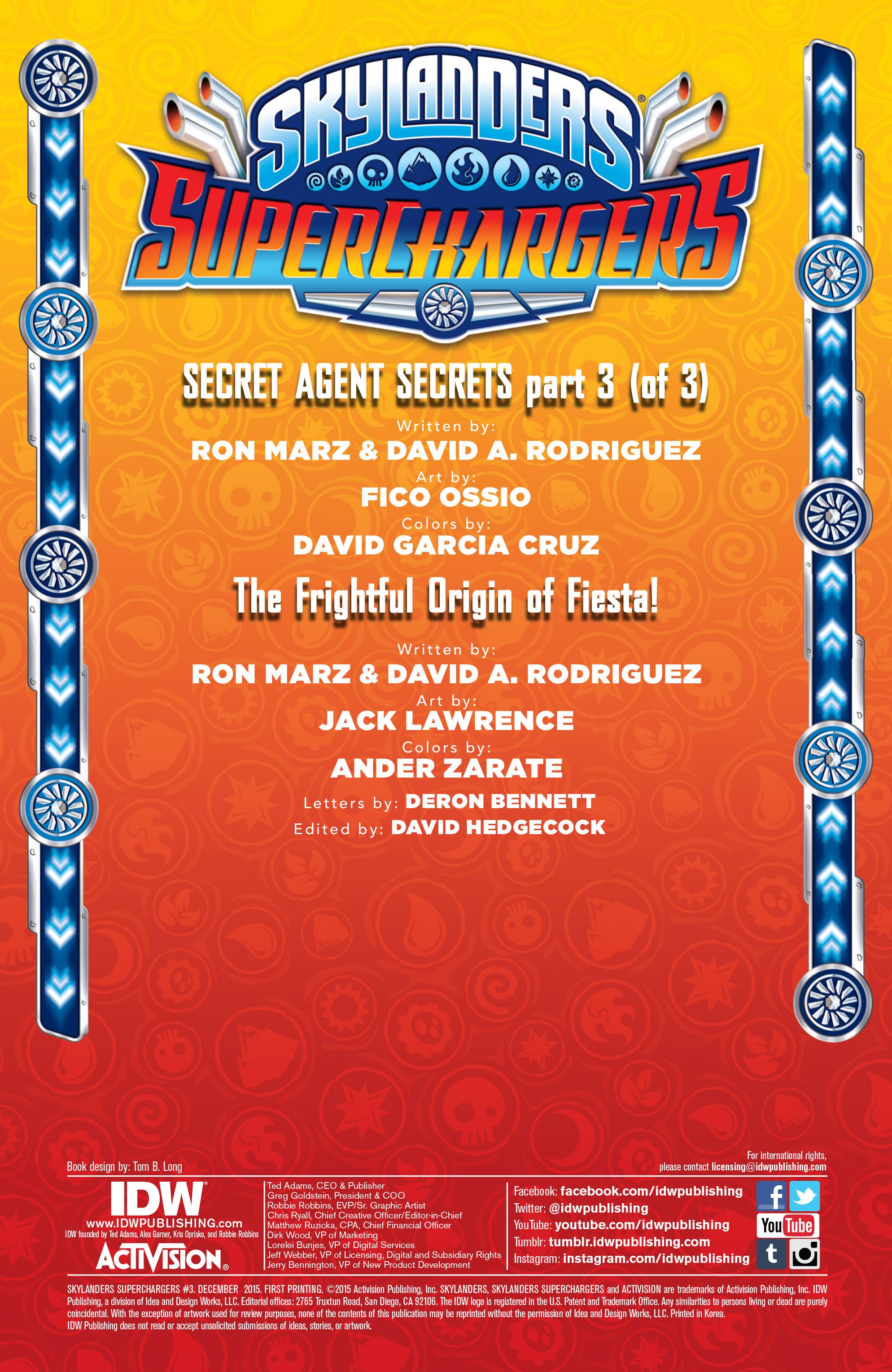 Read online Skylanders Superchargers comic -  Issue #3 - 2