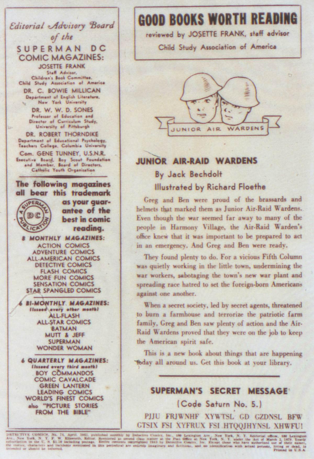 Read online Detective Comics (1937) comic -  Issue #74 - 2