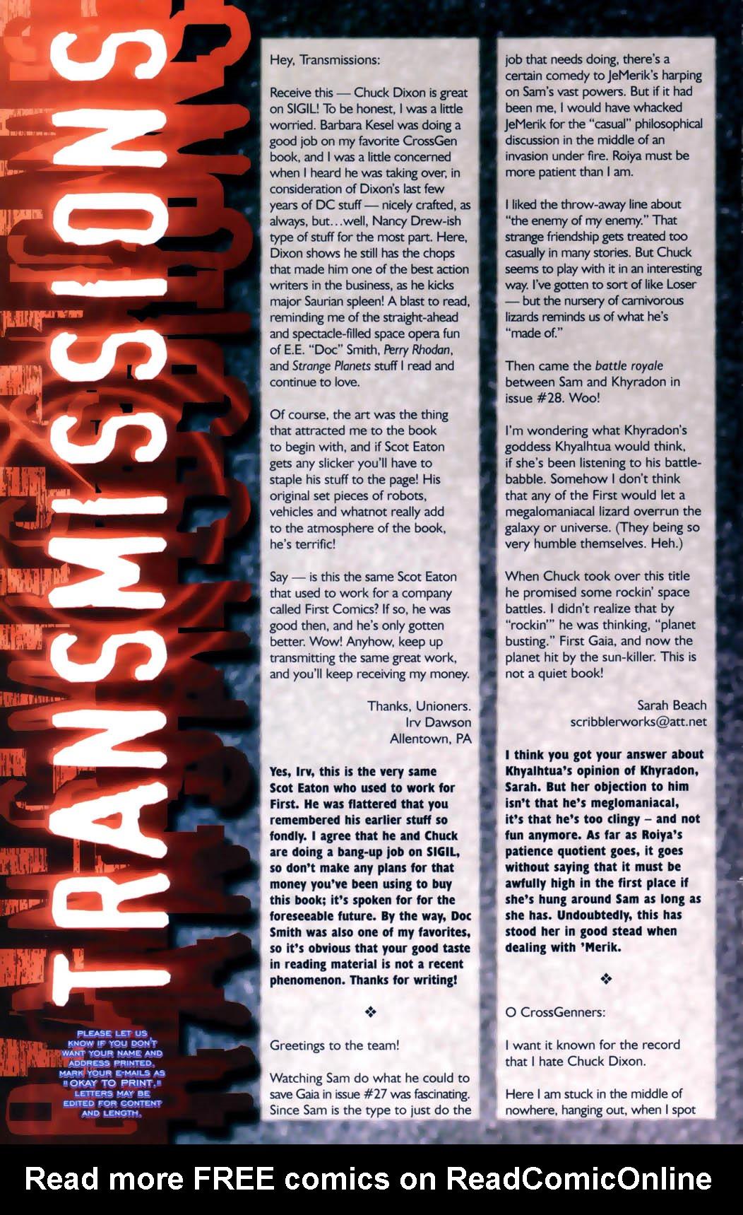 Read online Sigil (2000) comic -  Issue #30 - 28