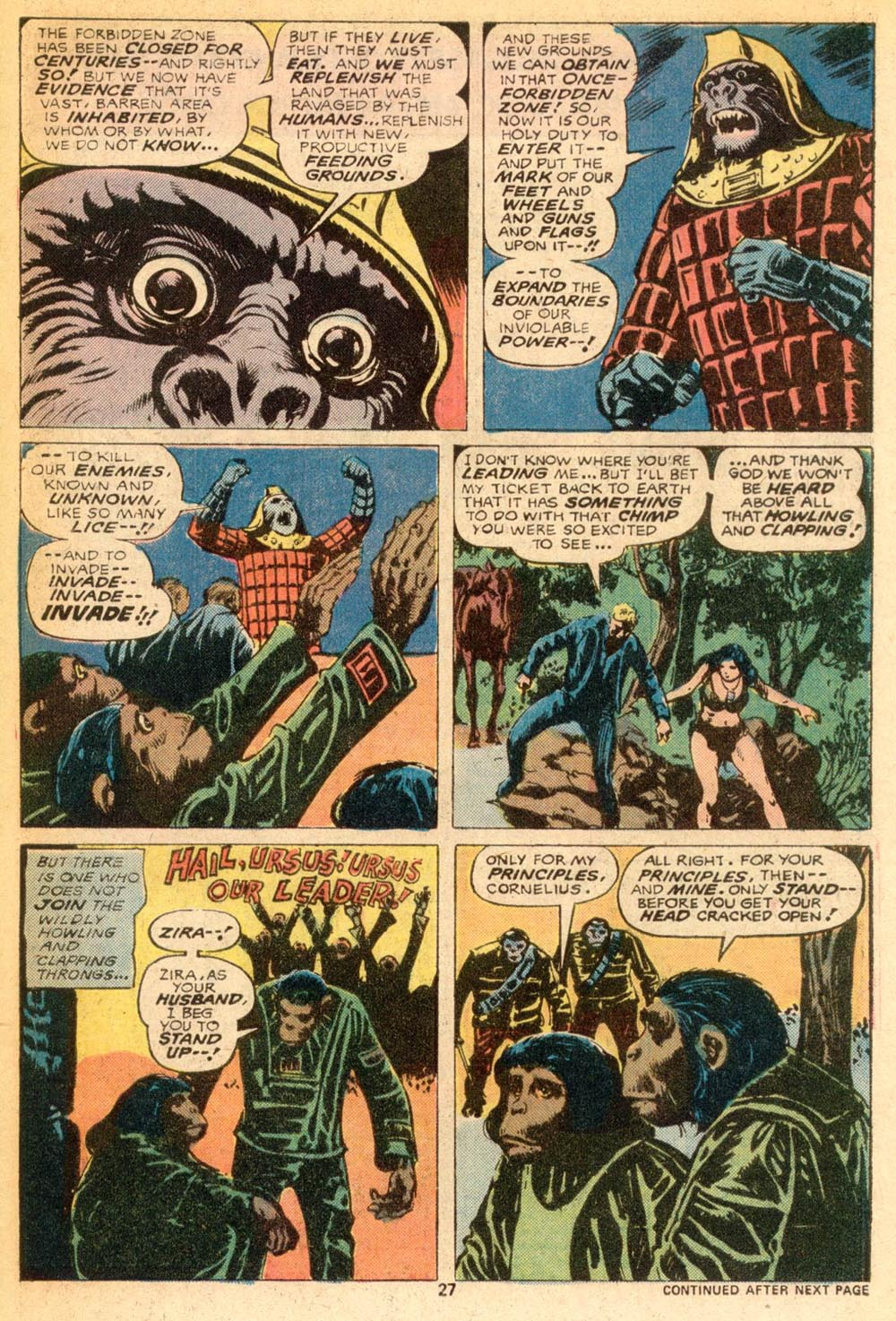 Read online Adventures on the Planet of the Apes comic -  Issue #7 - 17