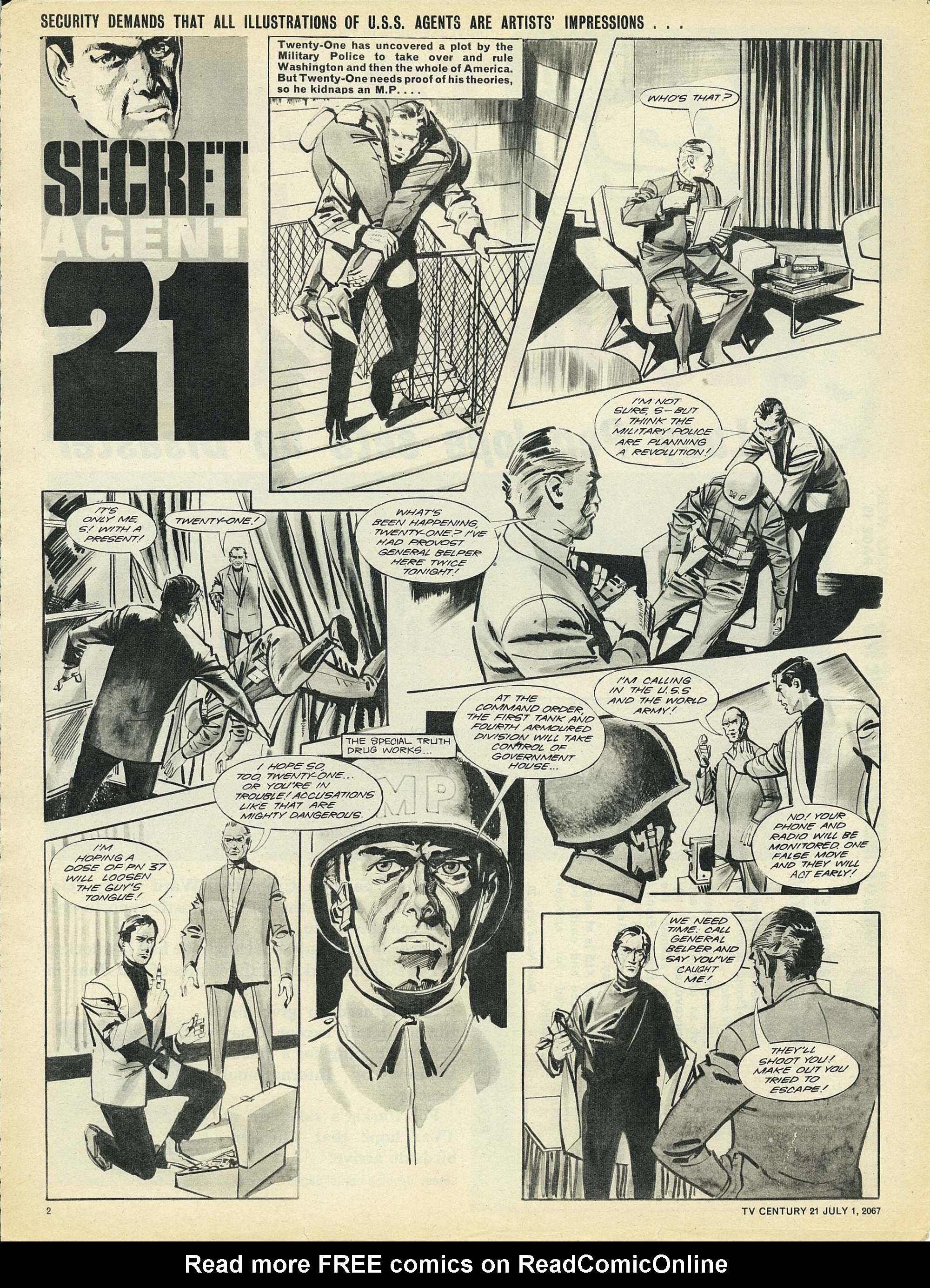 Read online TV Century 21 (TV 21) comic -  Issue #128 - 2