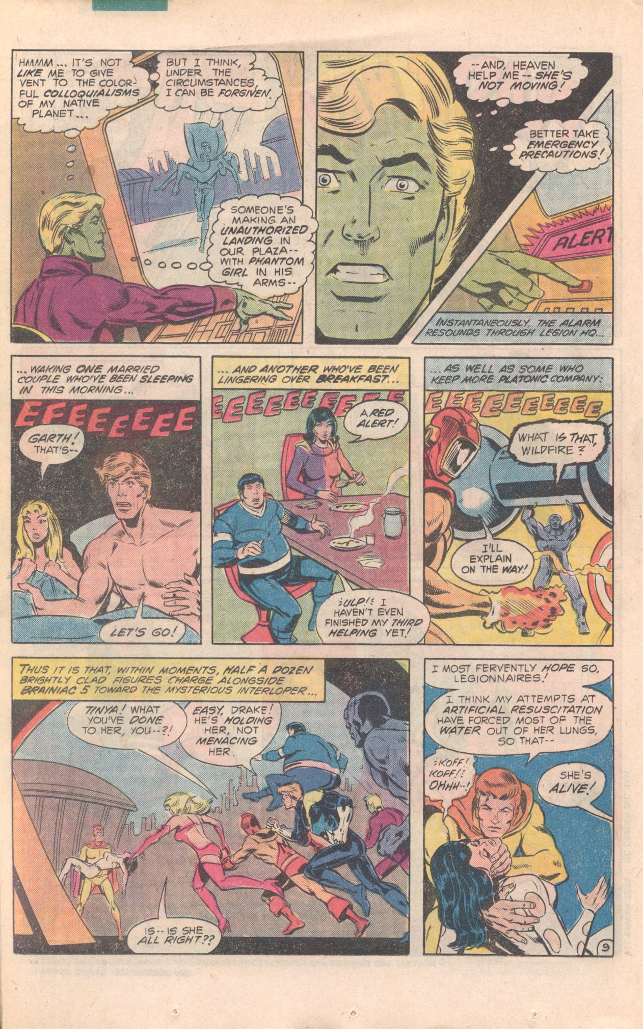 Legion of Super-Heroes (1980) 277 Page 9