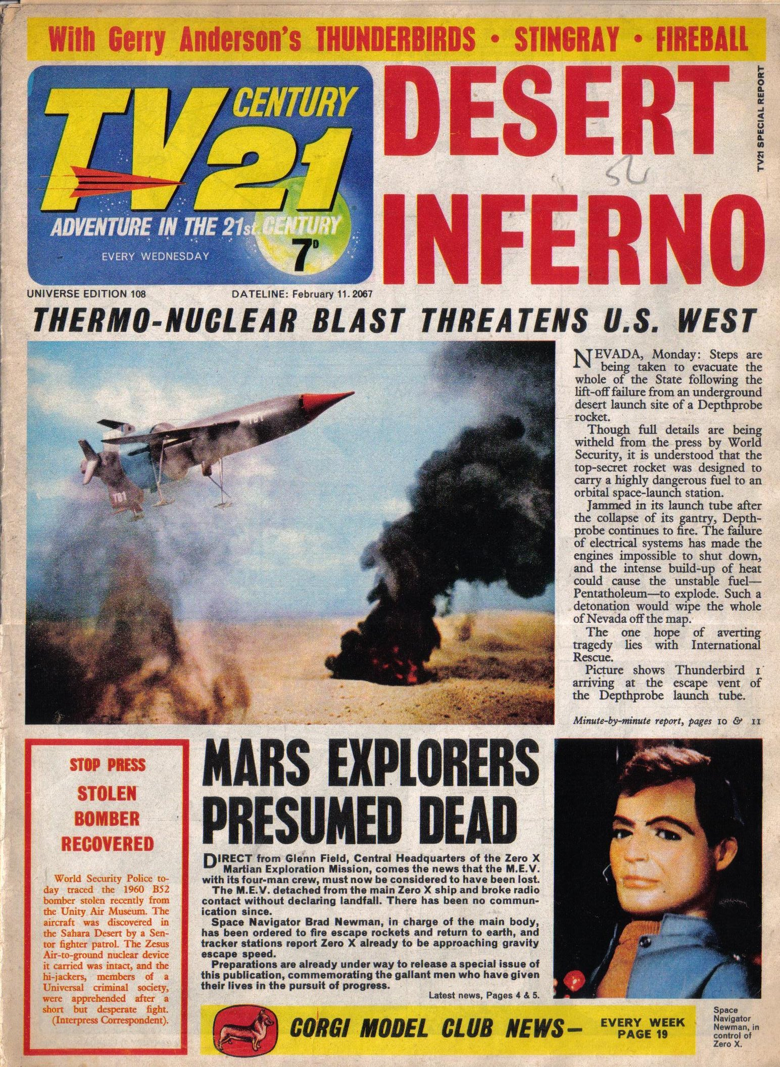 Read online TV Century 21 (TV 21) comic -  Issue #108 - 1