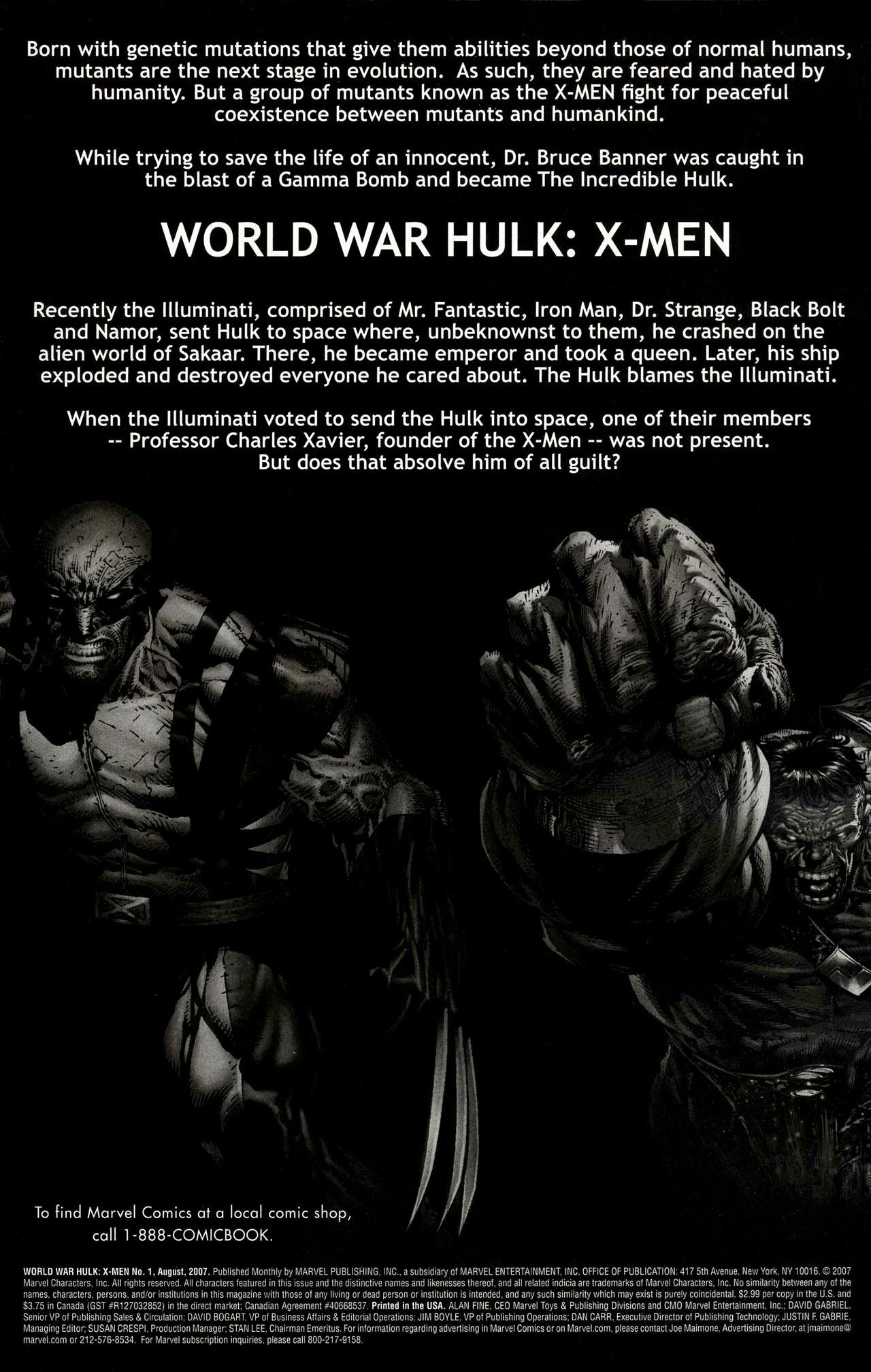 Read online World War Hulk: X-Men comic -  Issue #1 - 2