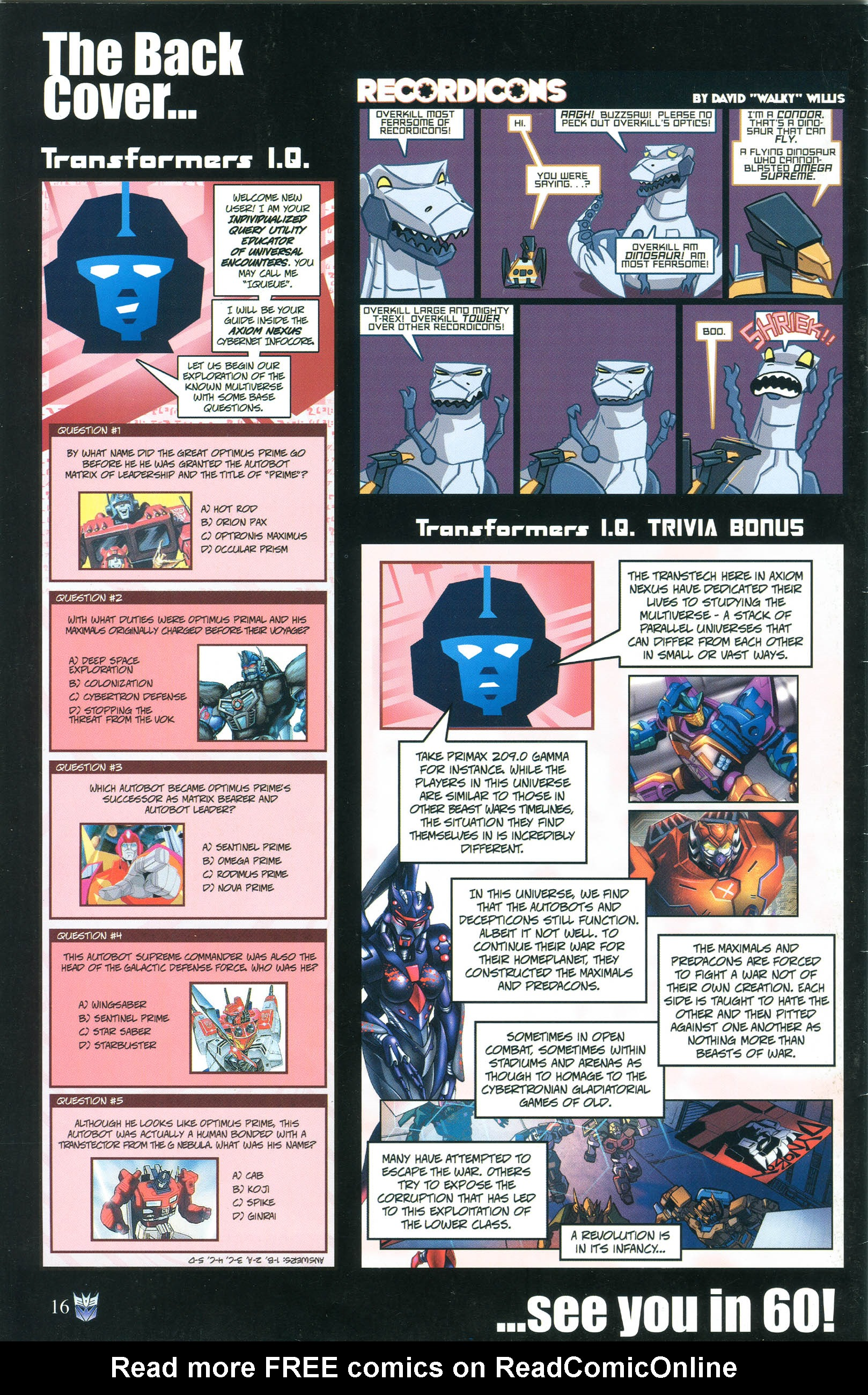 Read online Transformers: Collectors' Club comic -  Issue #55 - 16
