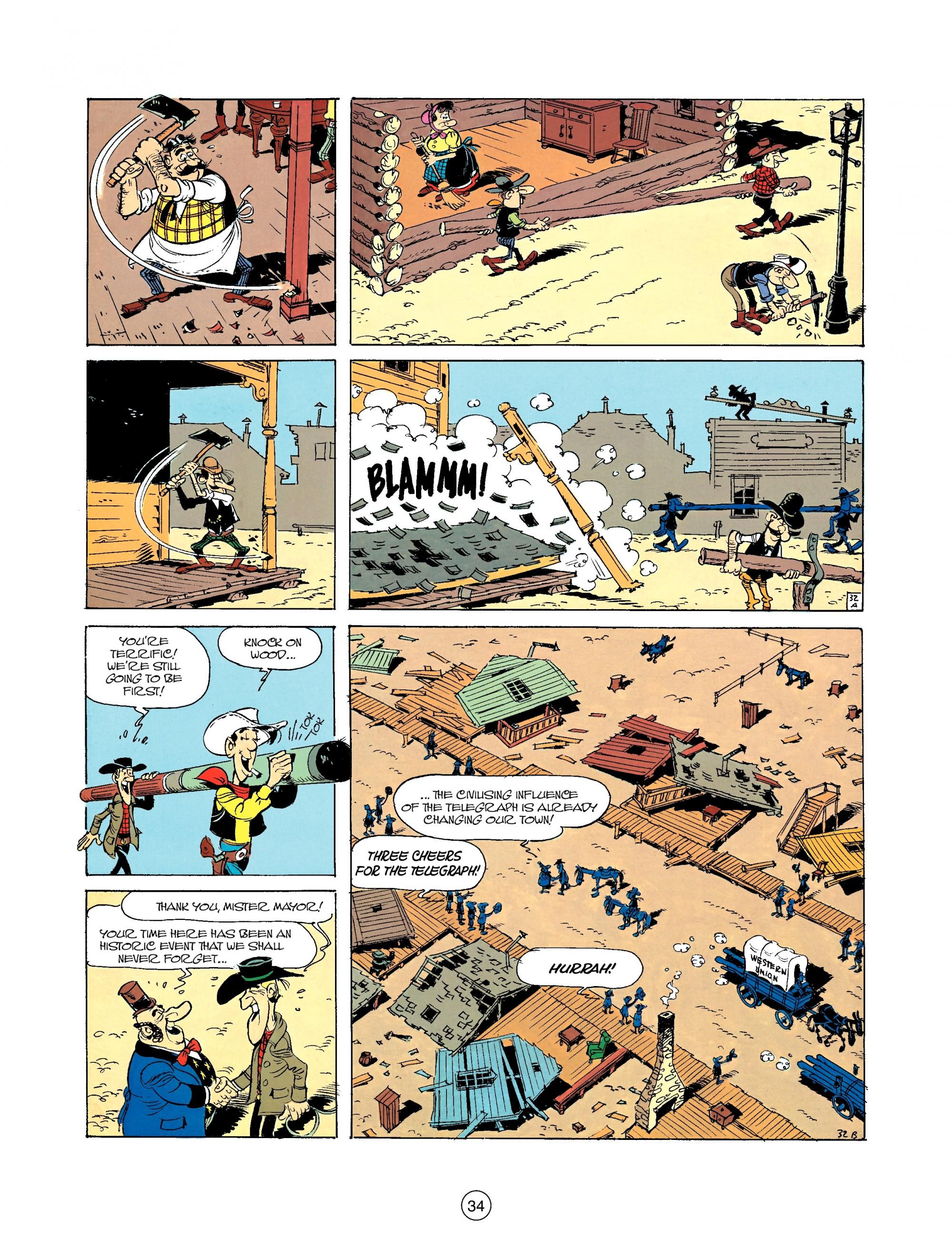 Read online A Lucky Luke Adventure comic -  Issue #35 - 34