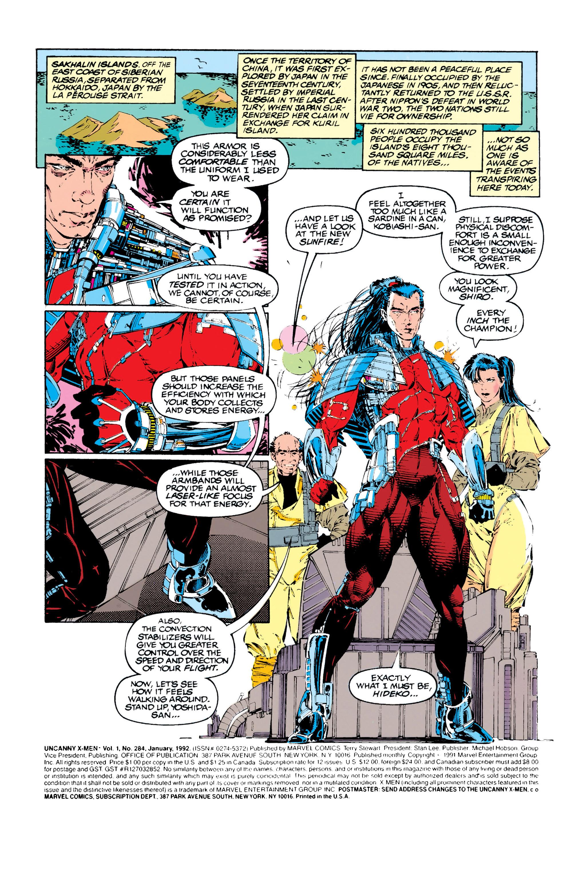Read online Uncanny X-Men (1963) comic -  Issue #284 - 2