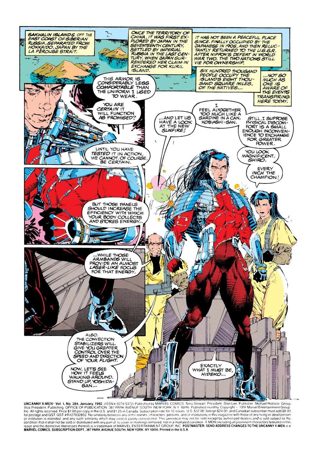 Uncanny X-Men (1963) issue 284 - Page 2
