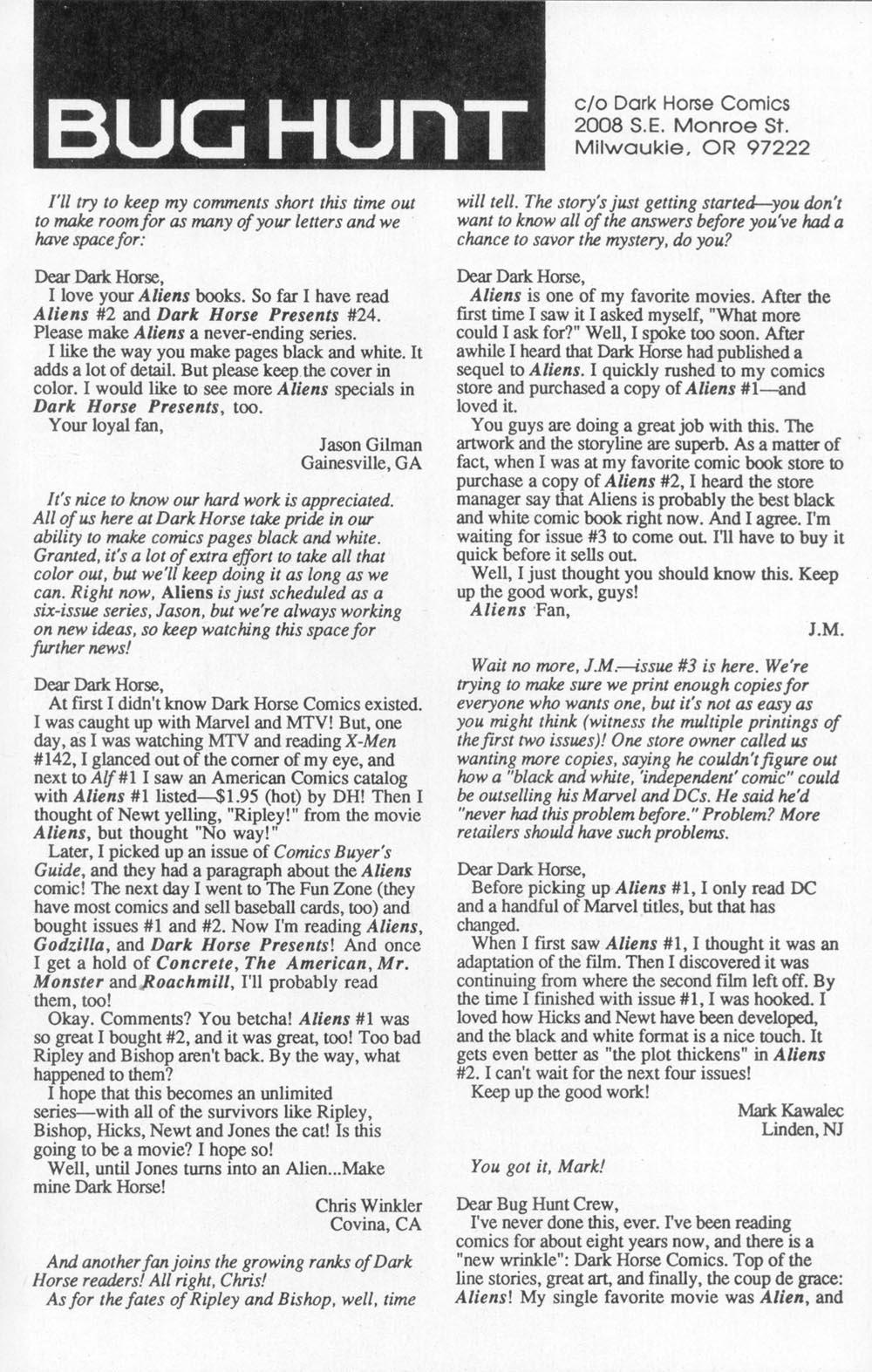 Read online Aliens (1988) comic -  Issue #3 - 3