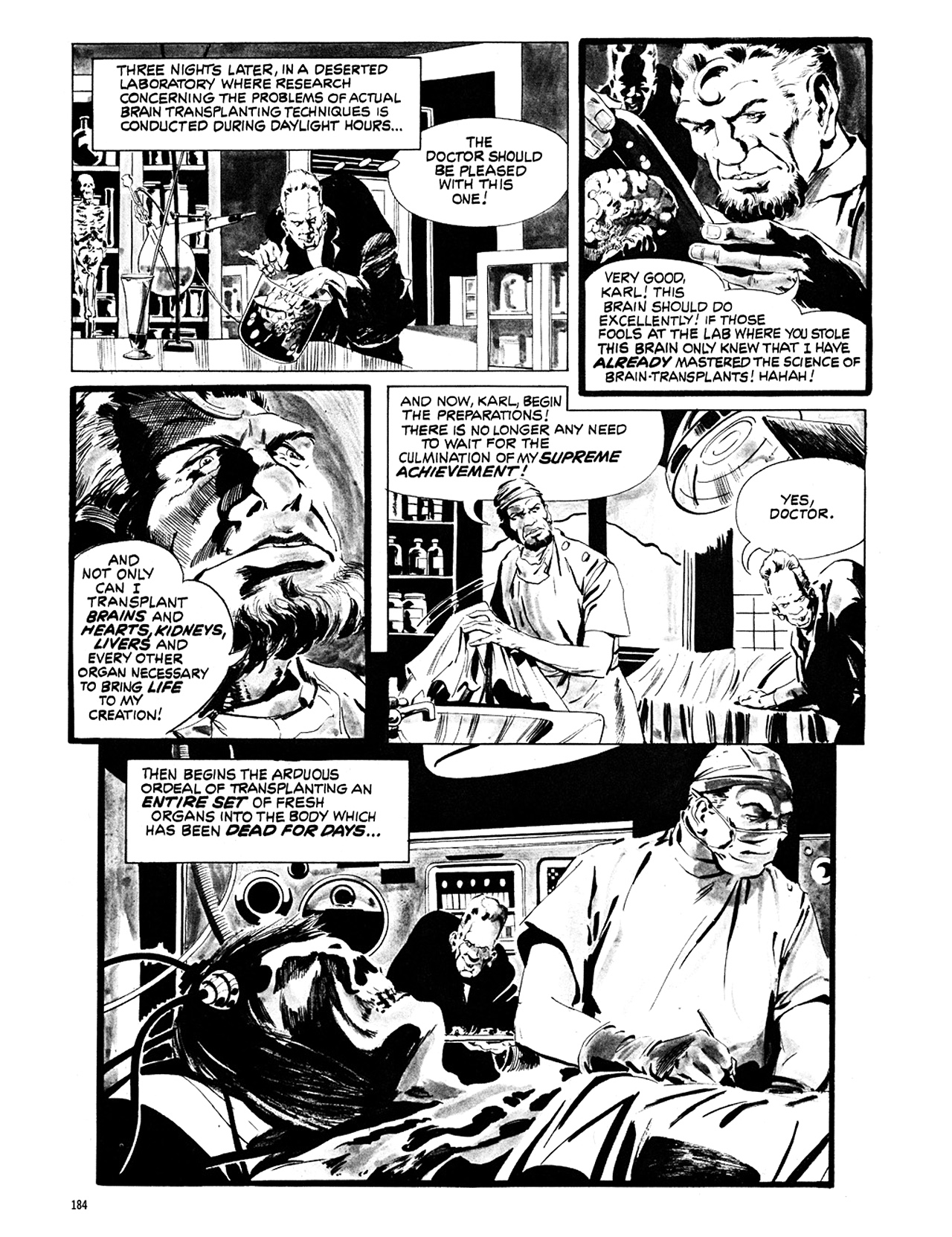 Read online Eerie Archives comic -  Issue # TPB 6 - 184