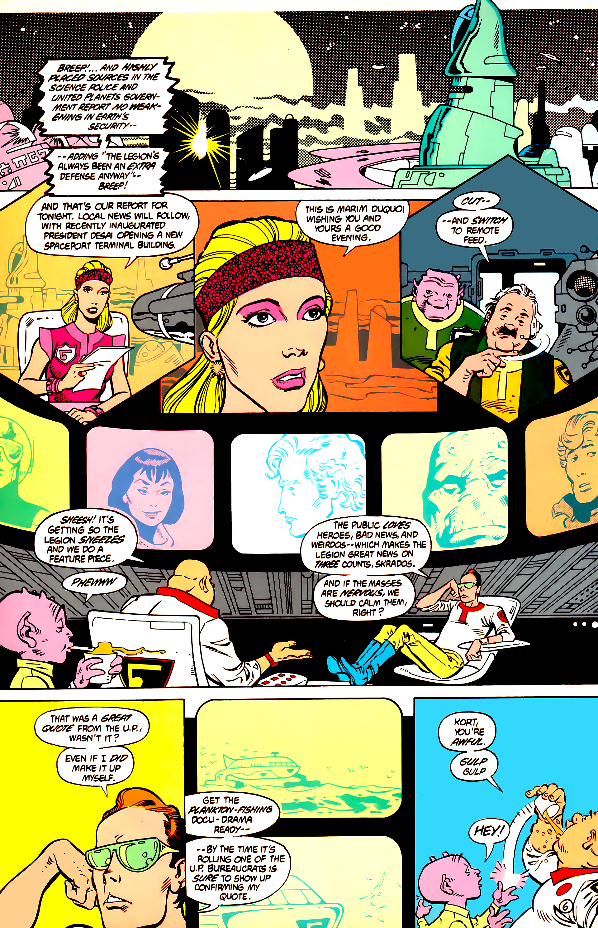 Legion of Super-Heroes (1984) 12 Page 19