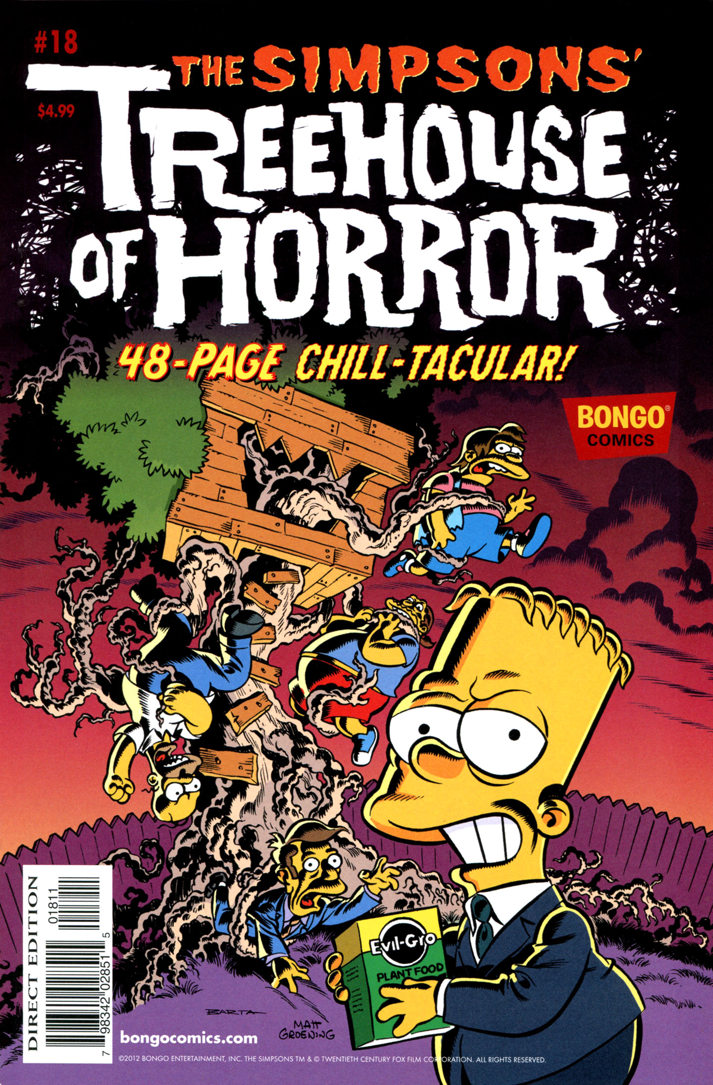 Read online Treehouse of Horror comic -  Issue #18 - 1