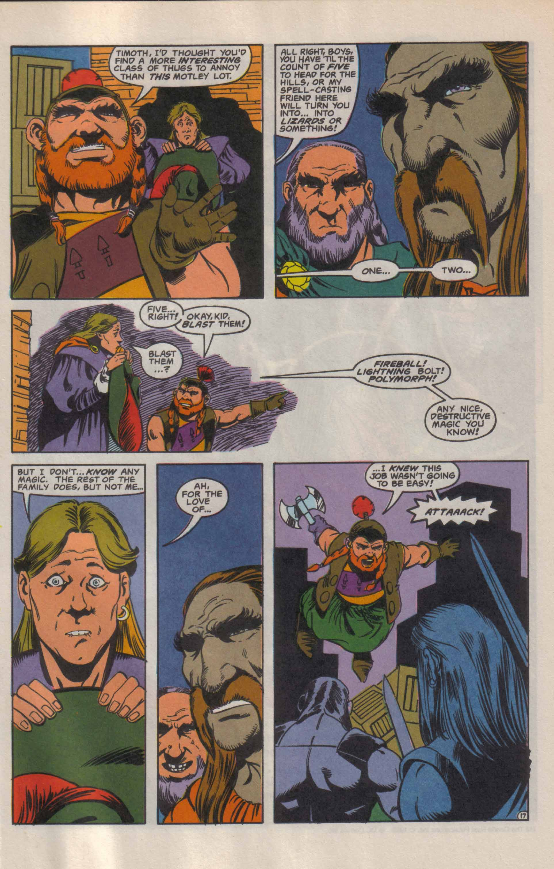 Read online Advanced Dungeons & Dragons comic -  Issue #9 - 18