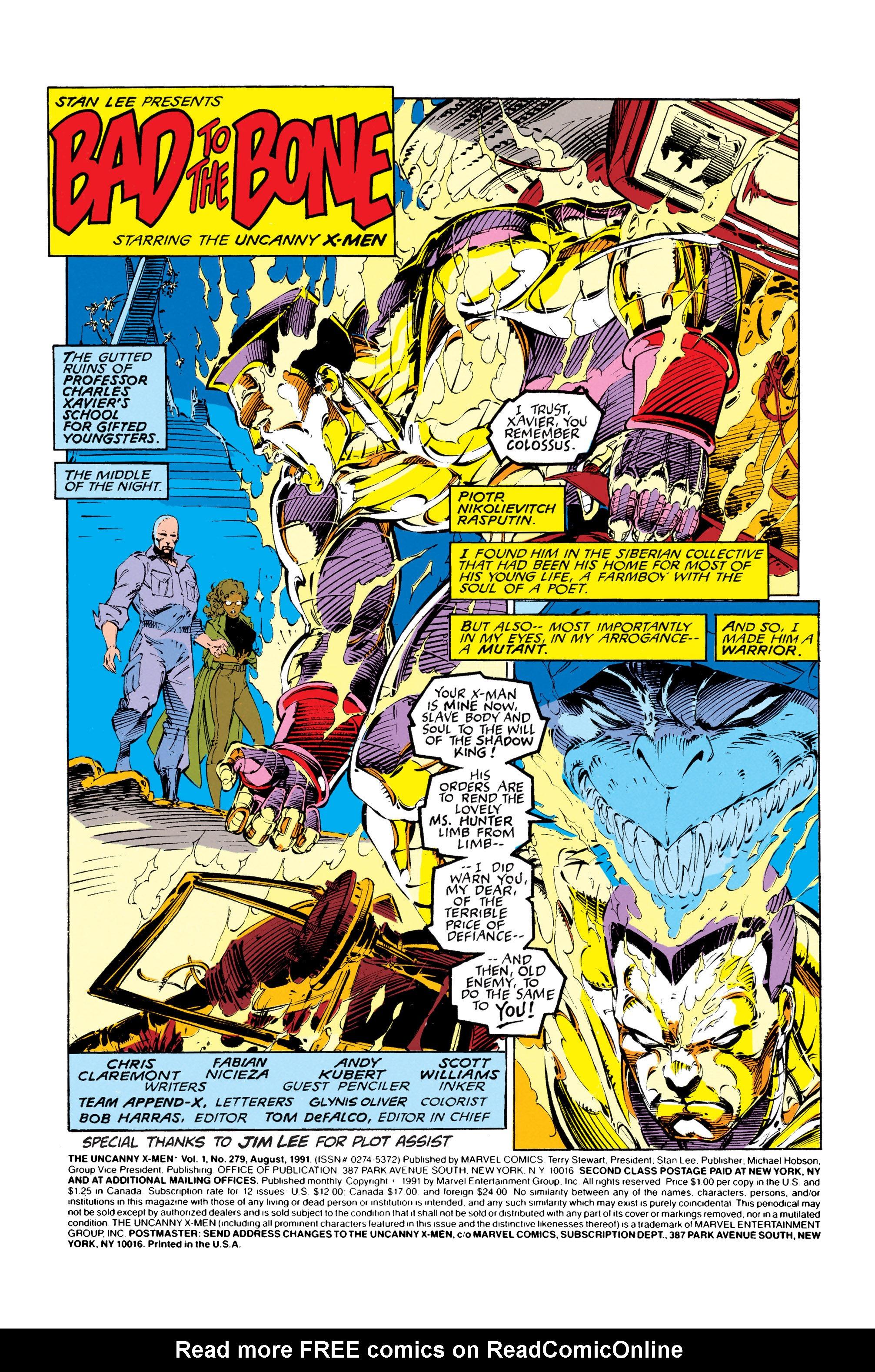 Read online Uncanny X-Men (1963) comic -  Issue #279 - 2