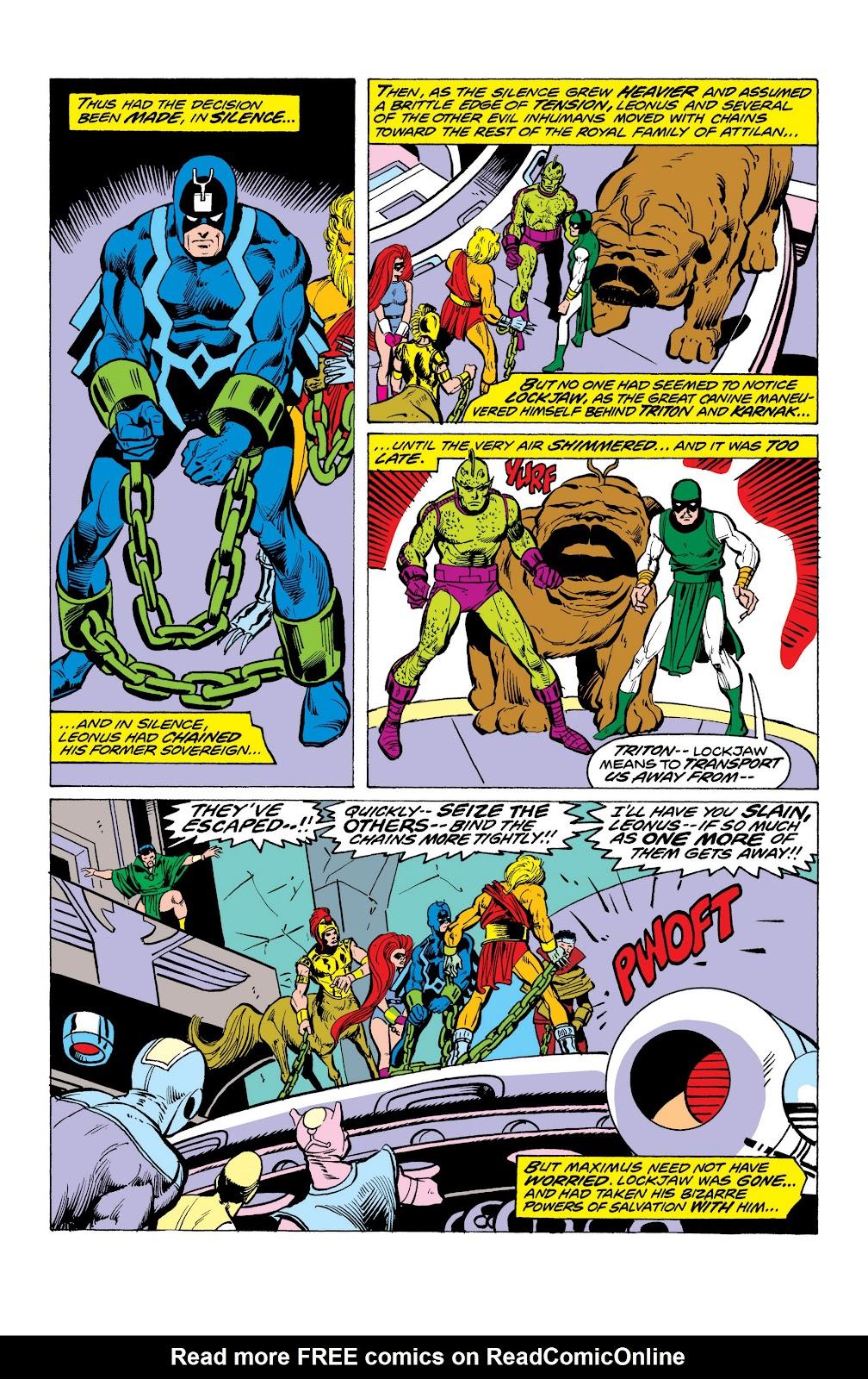Read online Marvel Masterworks: The Inhumans comic -  Issue # TPB 2 (Part 1) - 89