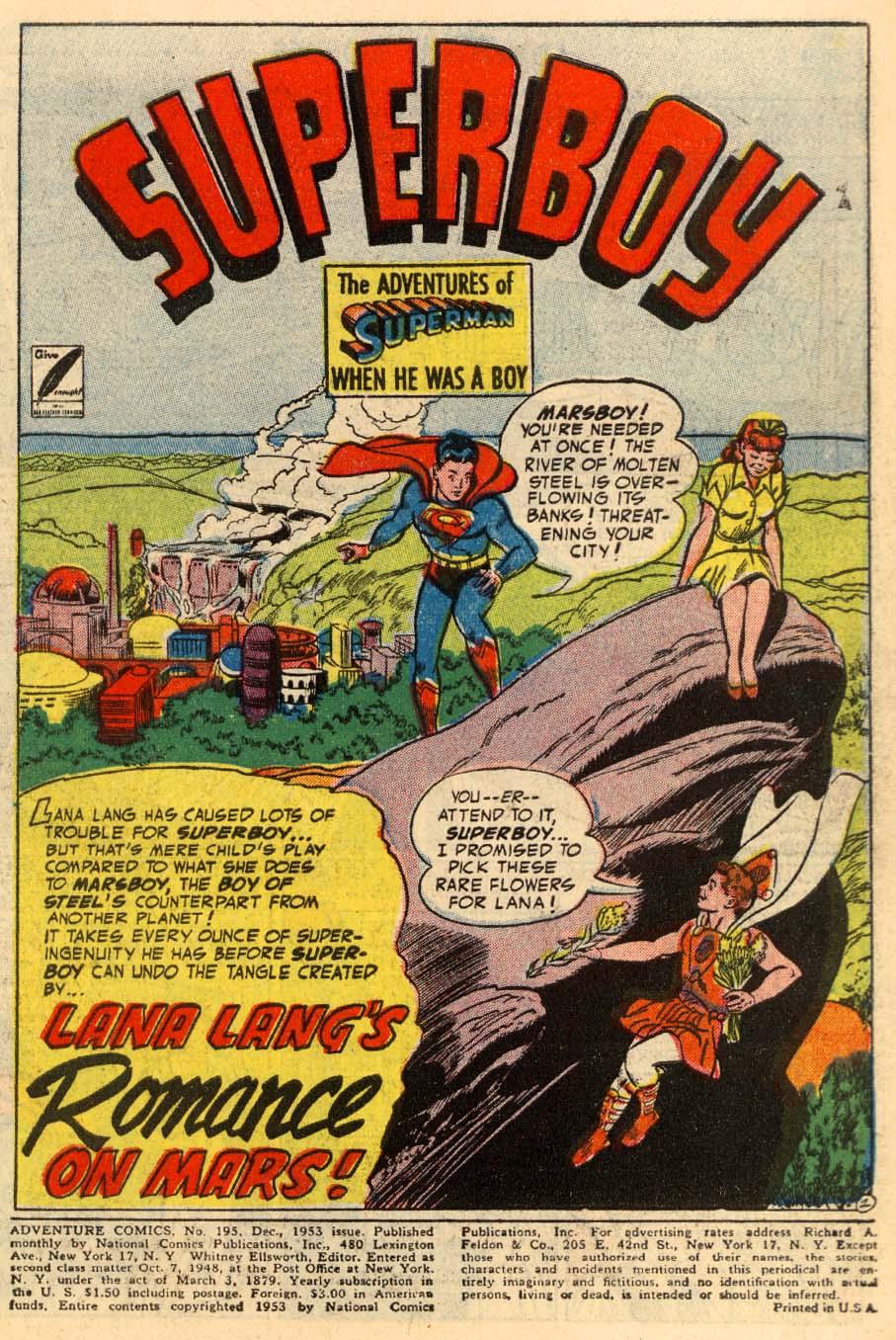 Read online Adventure Comics (1938) comic -  Issue #195 - 3