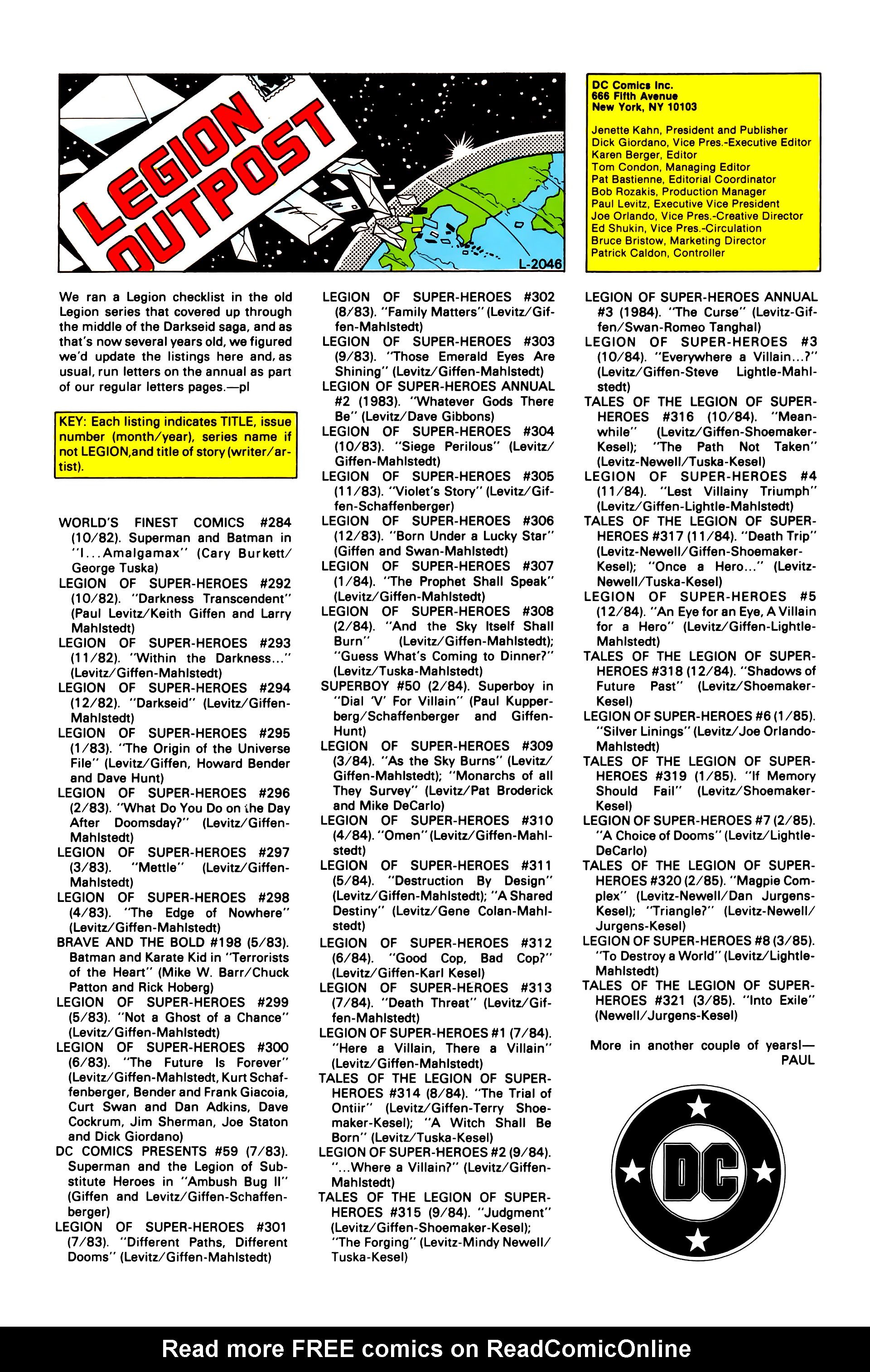 Legion of Super-Heroes (1984) _Annual_1 Page 41