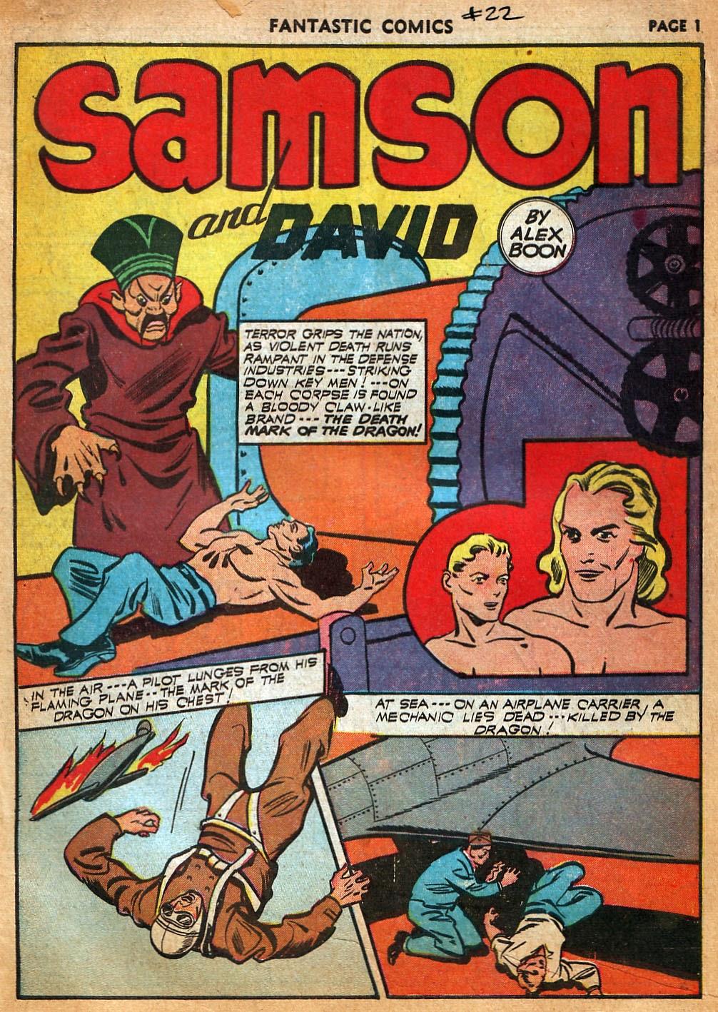 Read online Fantastic Comics comic -  Issue #22 - 3