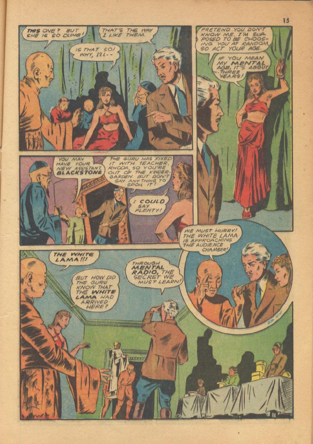 Read online Super-Magician Comics comic -  Issue #13 - 15