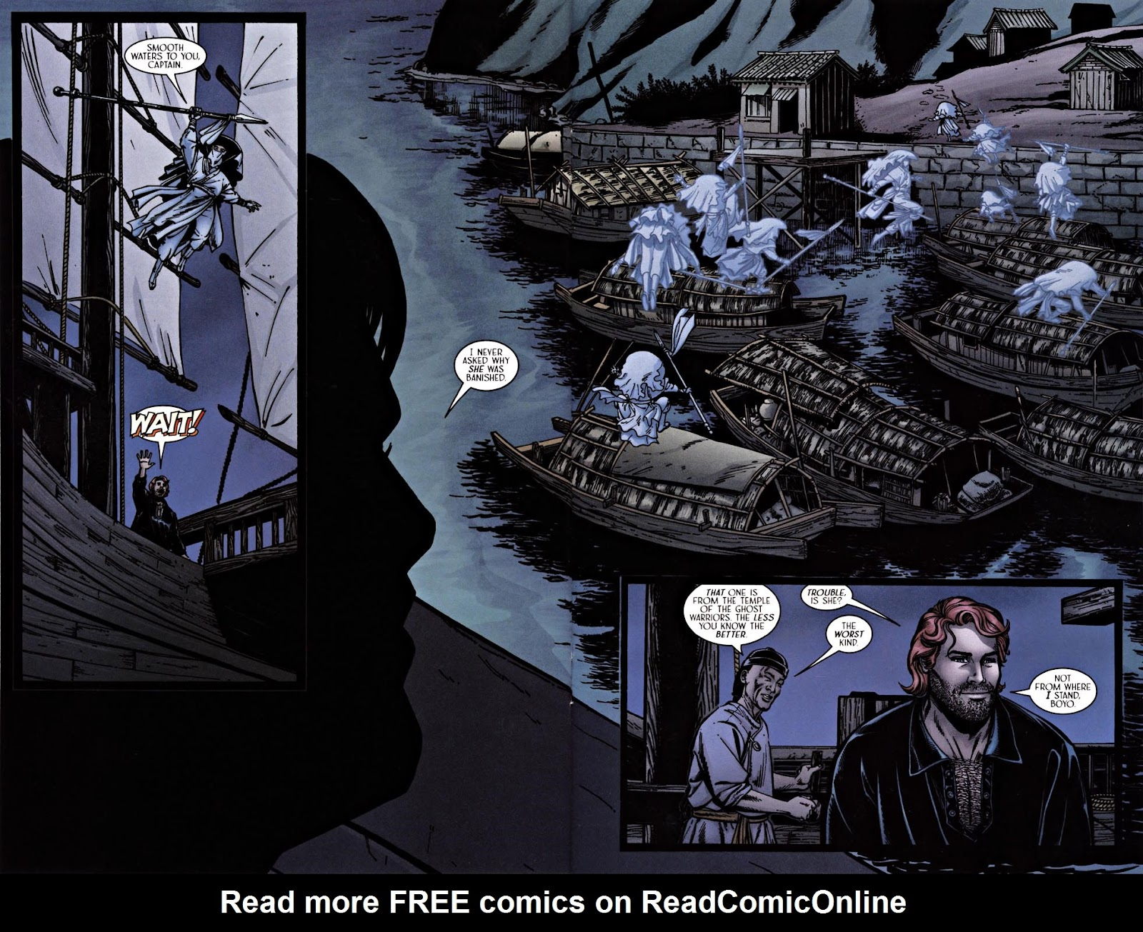 Read online Silken Ghost comic -  Issue #1 - 12