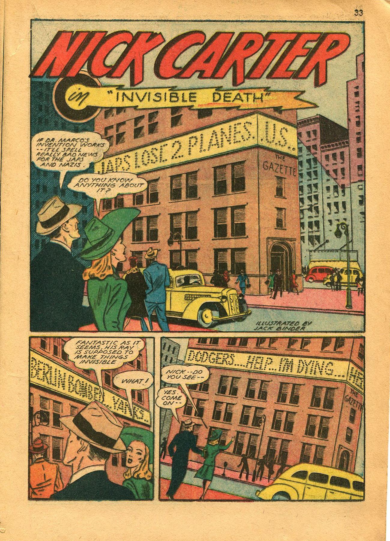 Read online Shadow Comics comic -  Issue #23 - 33