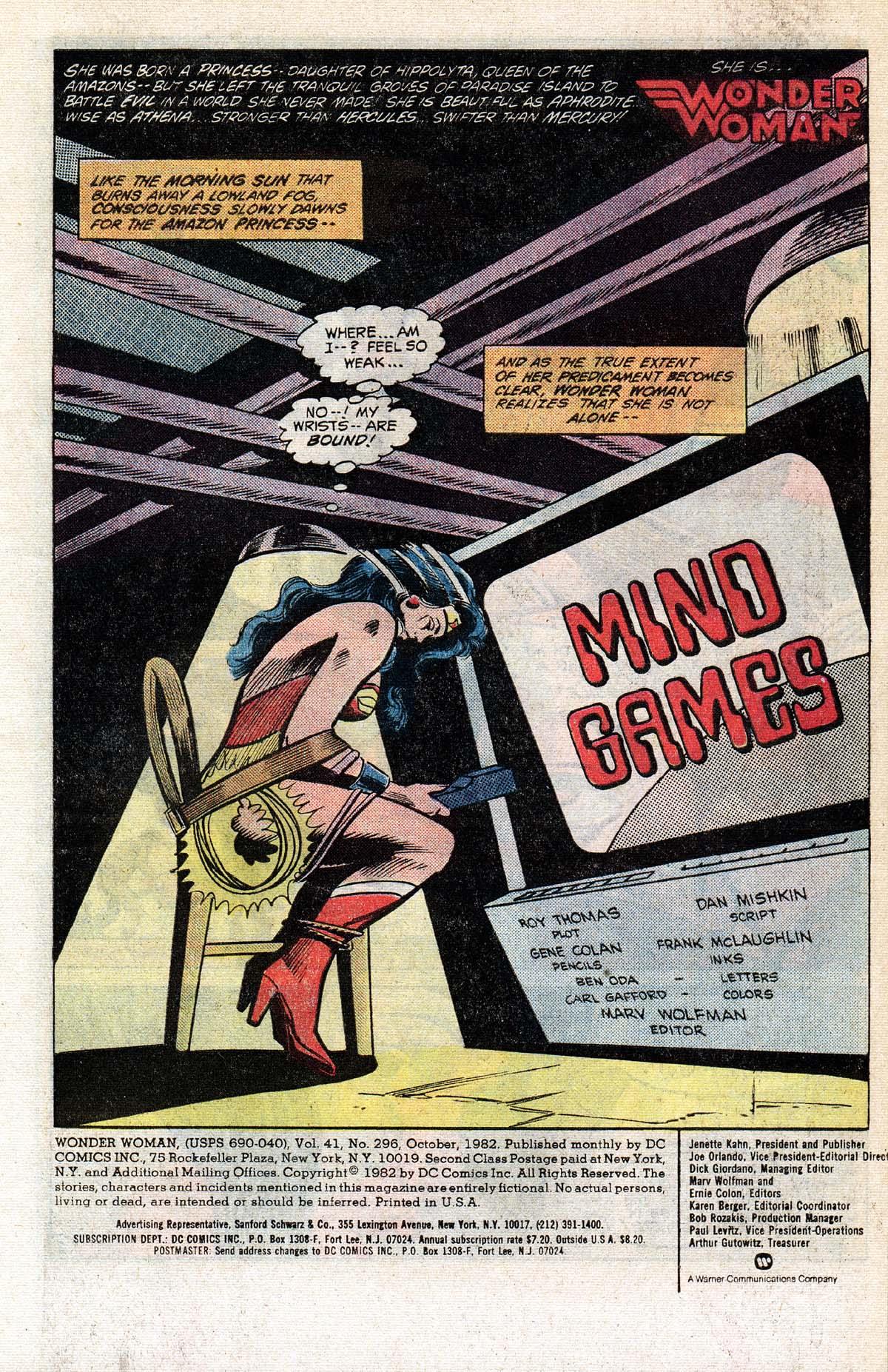 Read online Wonder Woman (1942) comic -  Issue #296 - 2