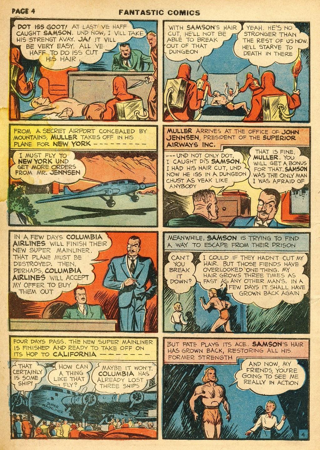 Read online Fantastic Comics comic -  Issue #10 - 5