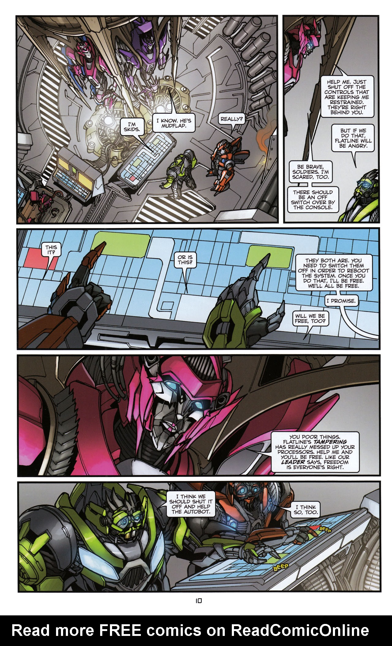 Read online Transformers: Tales of The Fallen comic -  Issue #6 - 12
