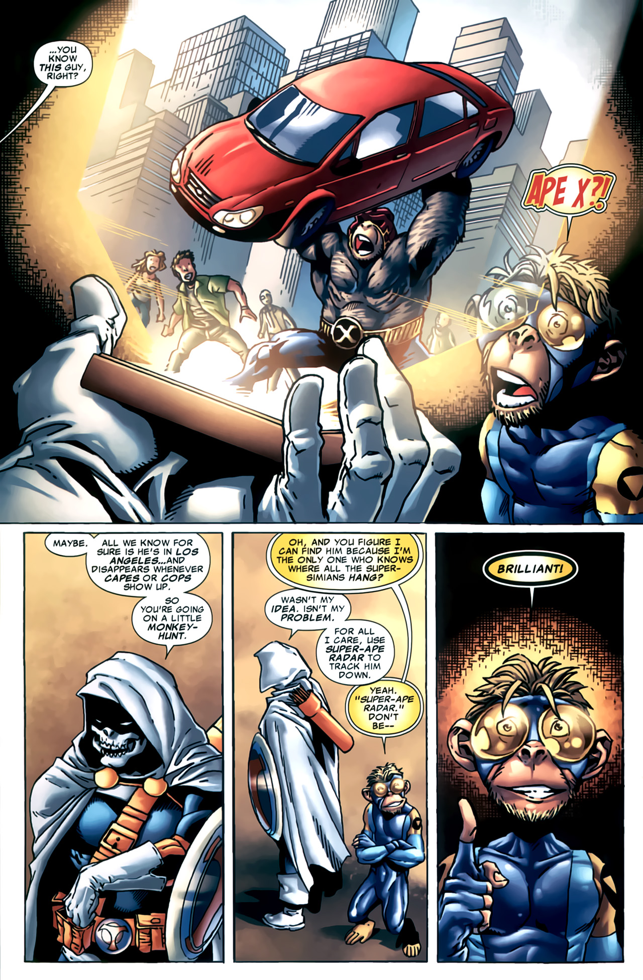 Read online Marvel Apes: Speedball Special comic -  Issue # Full - 15