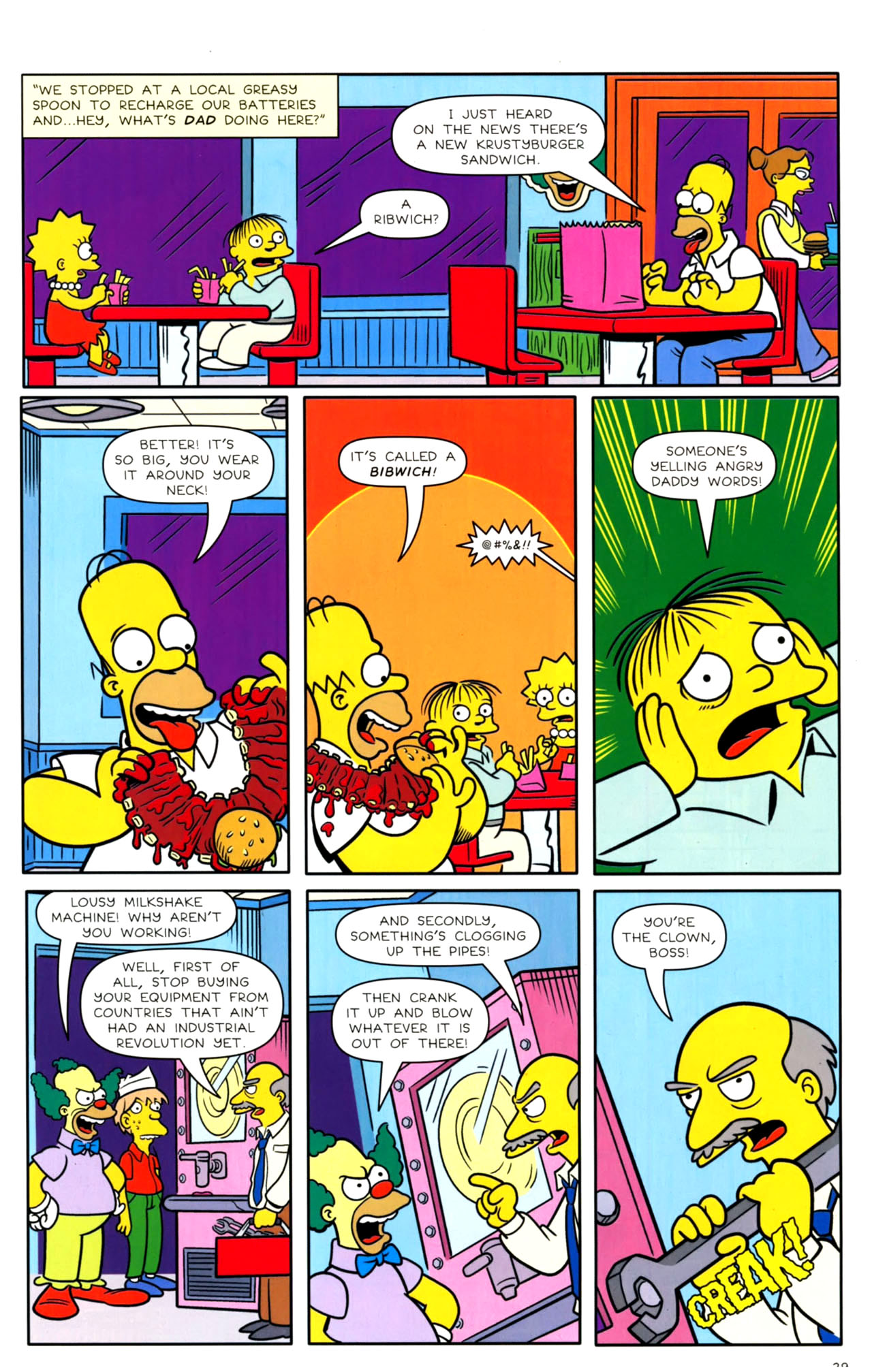 Read online Bongo Comics presents Comic Book Guy: The Comic Book comic -  Issue #4 - 31
