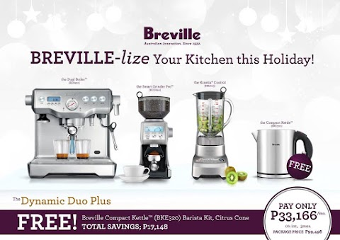Freshly brewed coffee from Breville coffee machines, your perfect companion this cold holiday season