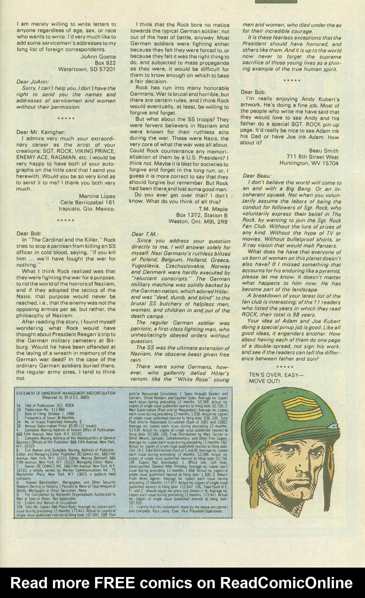 Read online Sgt. Rock comic -  Issue #415 - 32