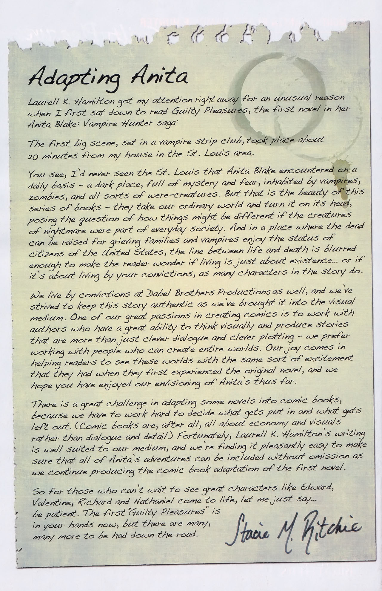 Read online Anita Blake, Vampire Hunter: Guilty Pleasures comic -  Issue #1 - 26
