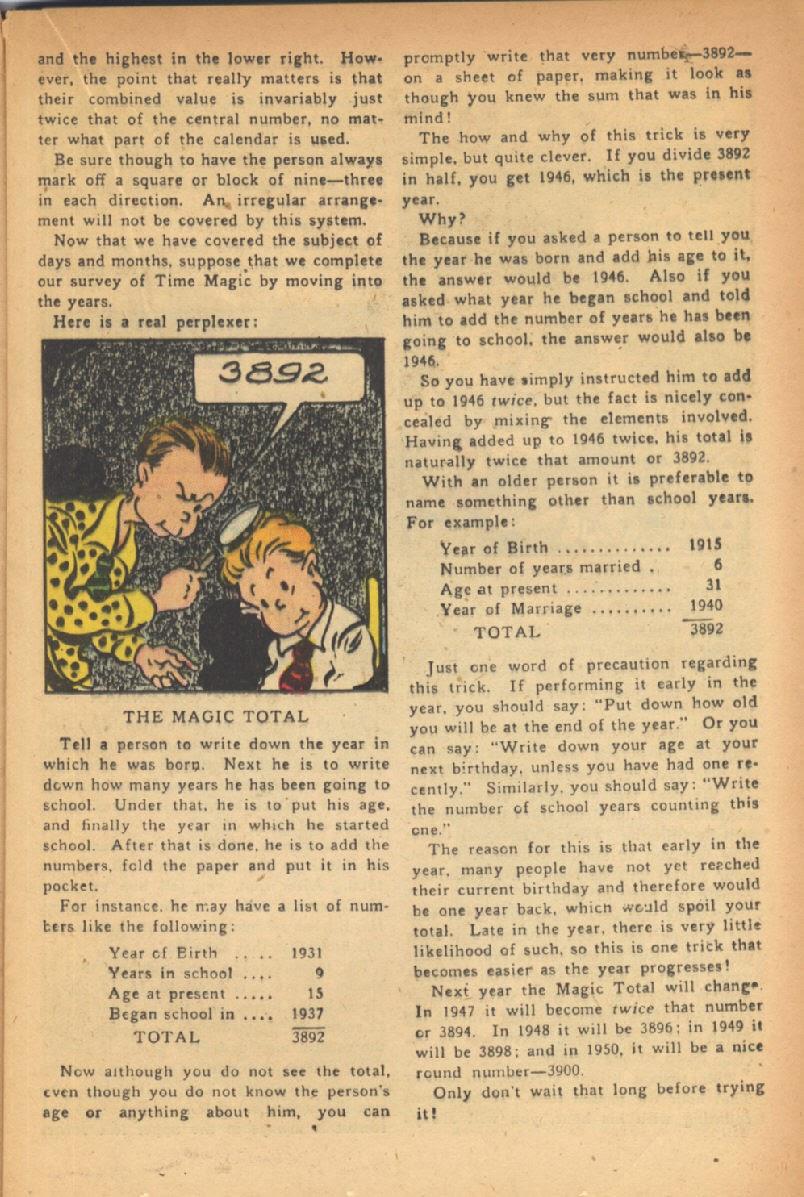 Read online Super-Magician Comics comic -  Issue #47 - 23