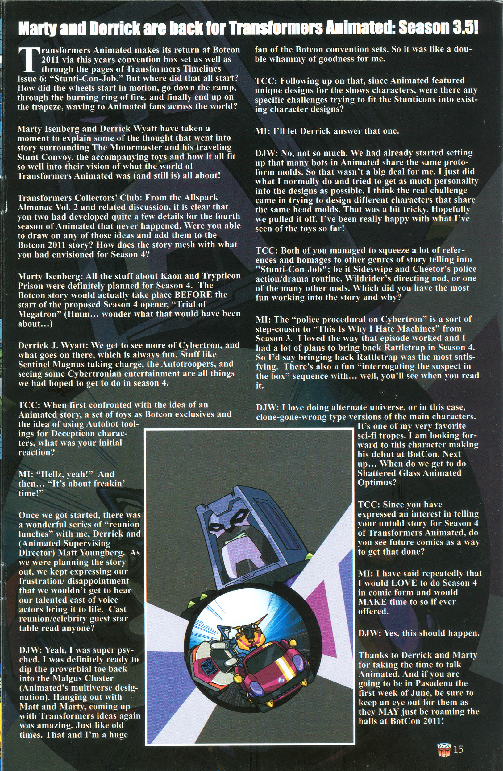 Read online Transformers: Collectors' Club comic -  Issue #39 - 15