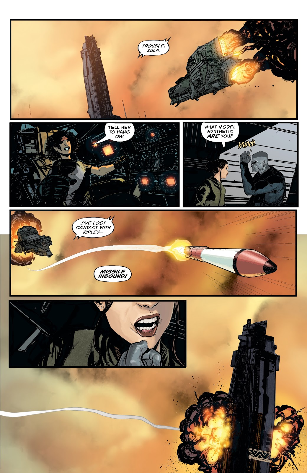 Read online Aliens: Resistance comic -  Issue #1 - 13