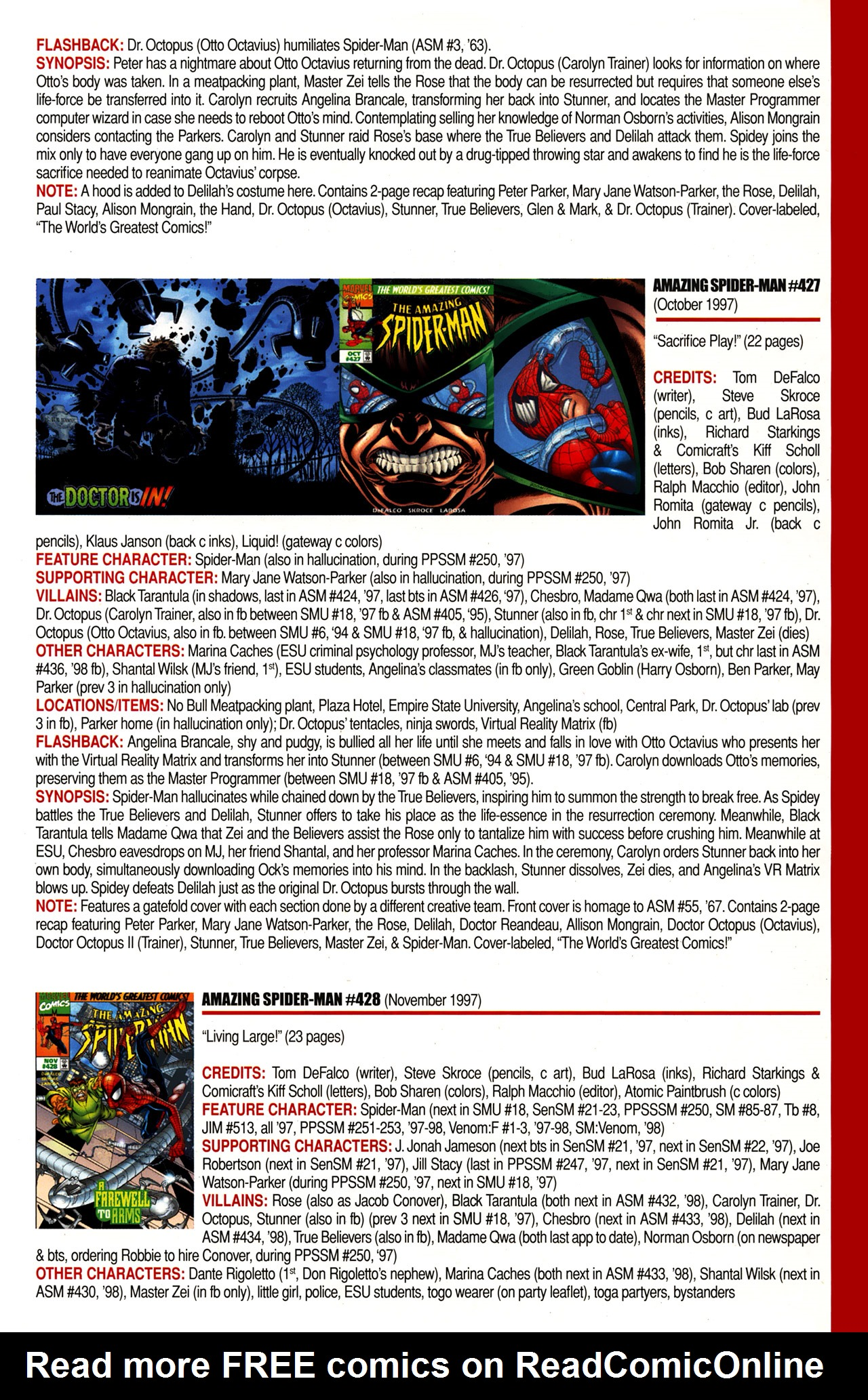 Read online Official Index to the Marvel Universe comic -  Issue #10 - 19