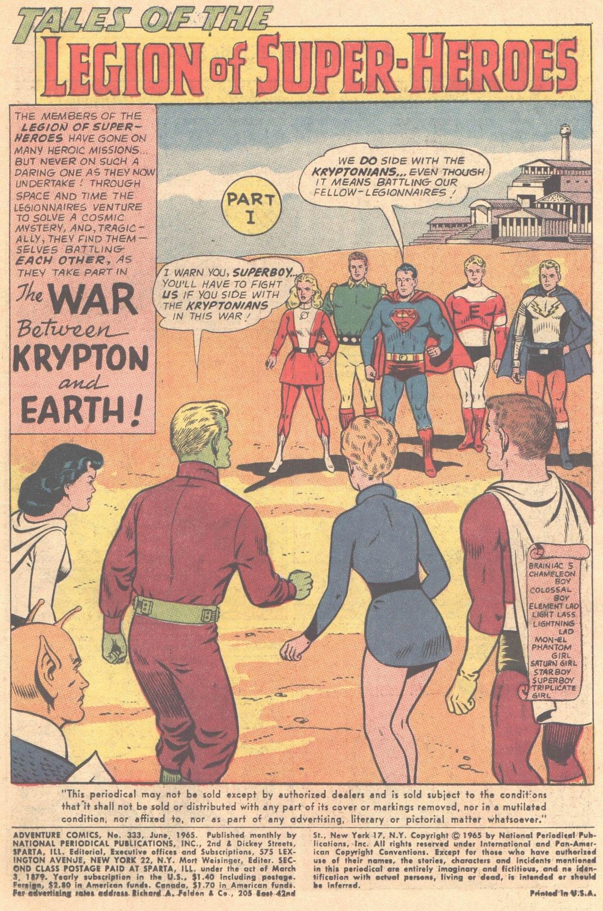 Read online Adventure Comics (1938) comic -  Issue #333 - 2
