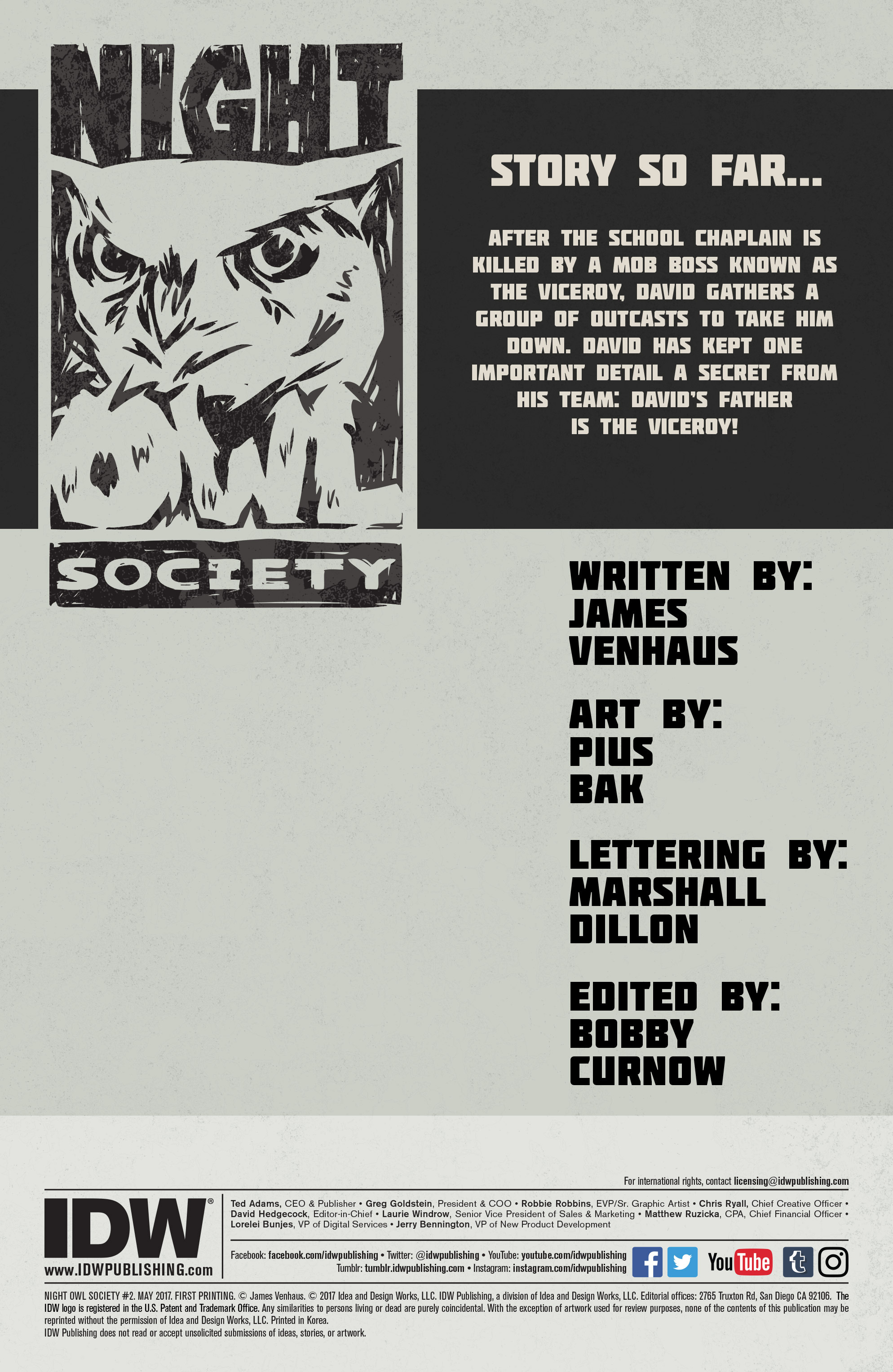 Read online Night Owl Society comic -  Issue #2 - 2