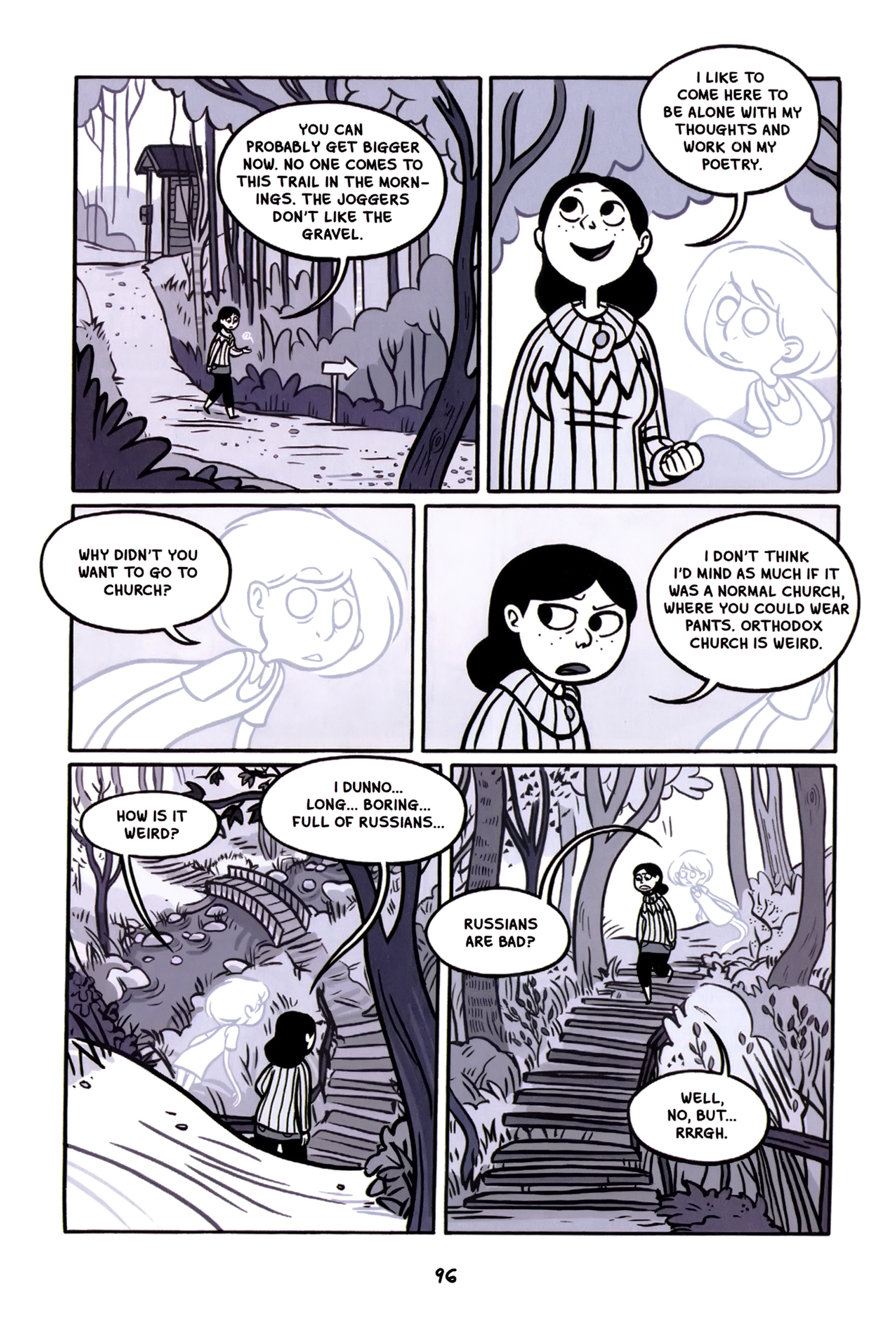 Read online Anya's Ghost comic -  Issue #1 - 97