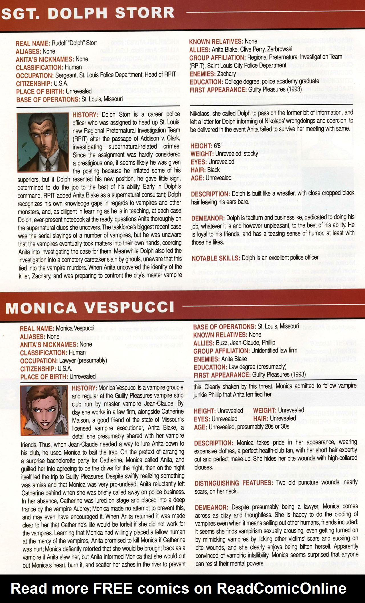 Read online Anita Blake, Vampire Hunter: Guilty Pleasures Handbook comic -  Issue #Anita Blake, Vampire Hunter: Guilty Pleasures Handbook Full - 46