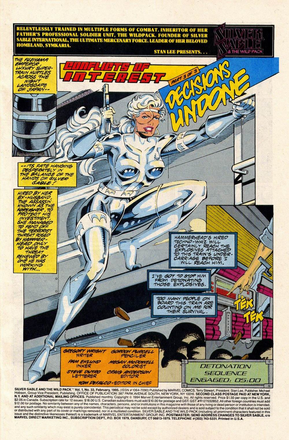 Read online Silver Sable and the Wild Pack comic -  Issue #33 - 2