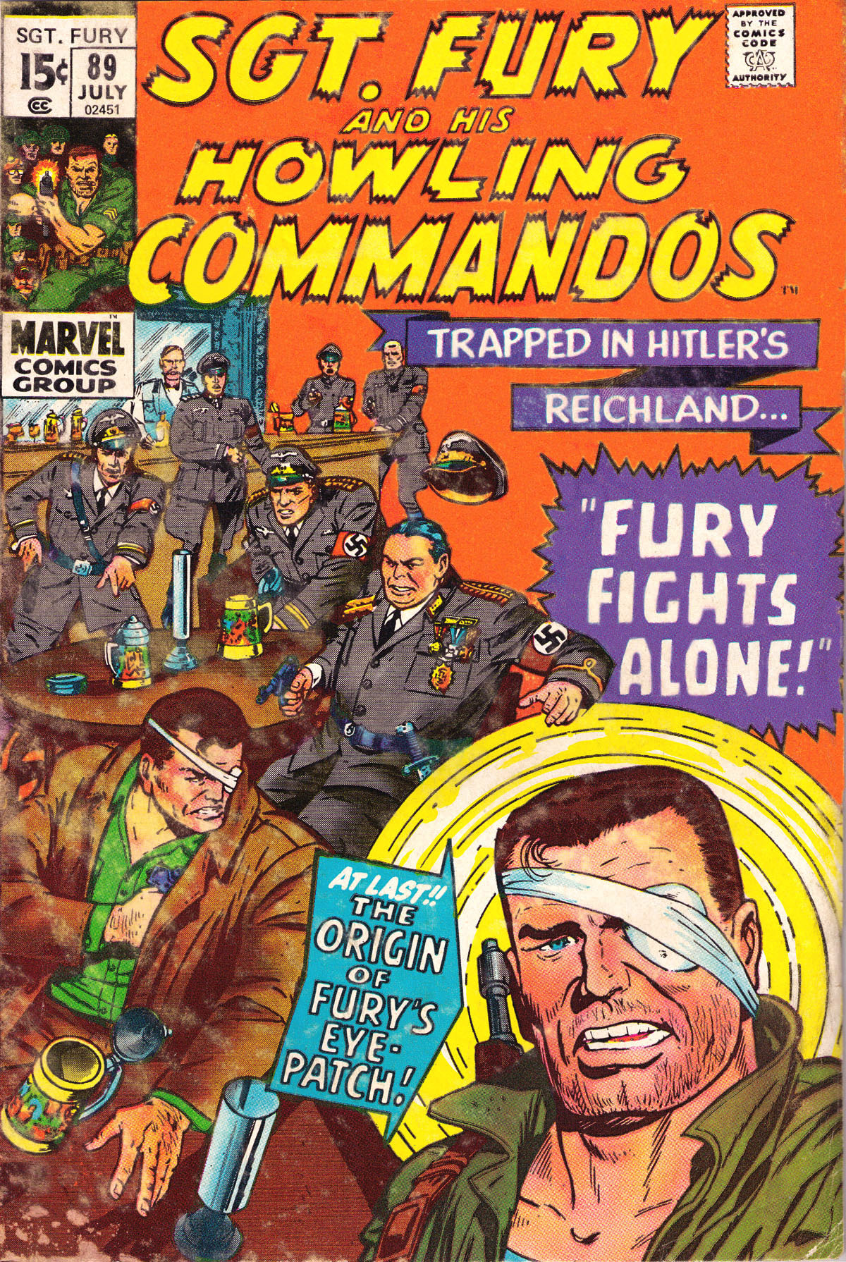 Read online Sgt. Fury comic -  Issue #89 - 2