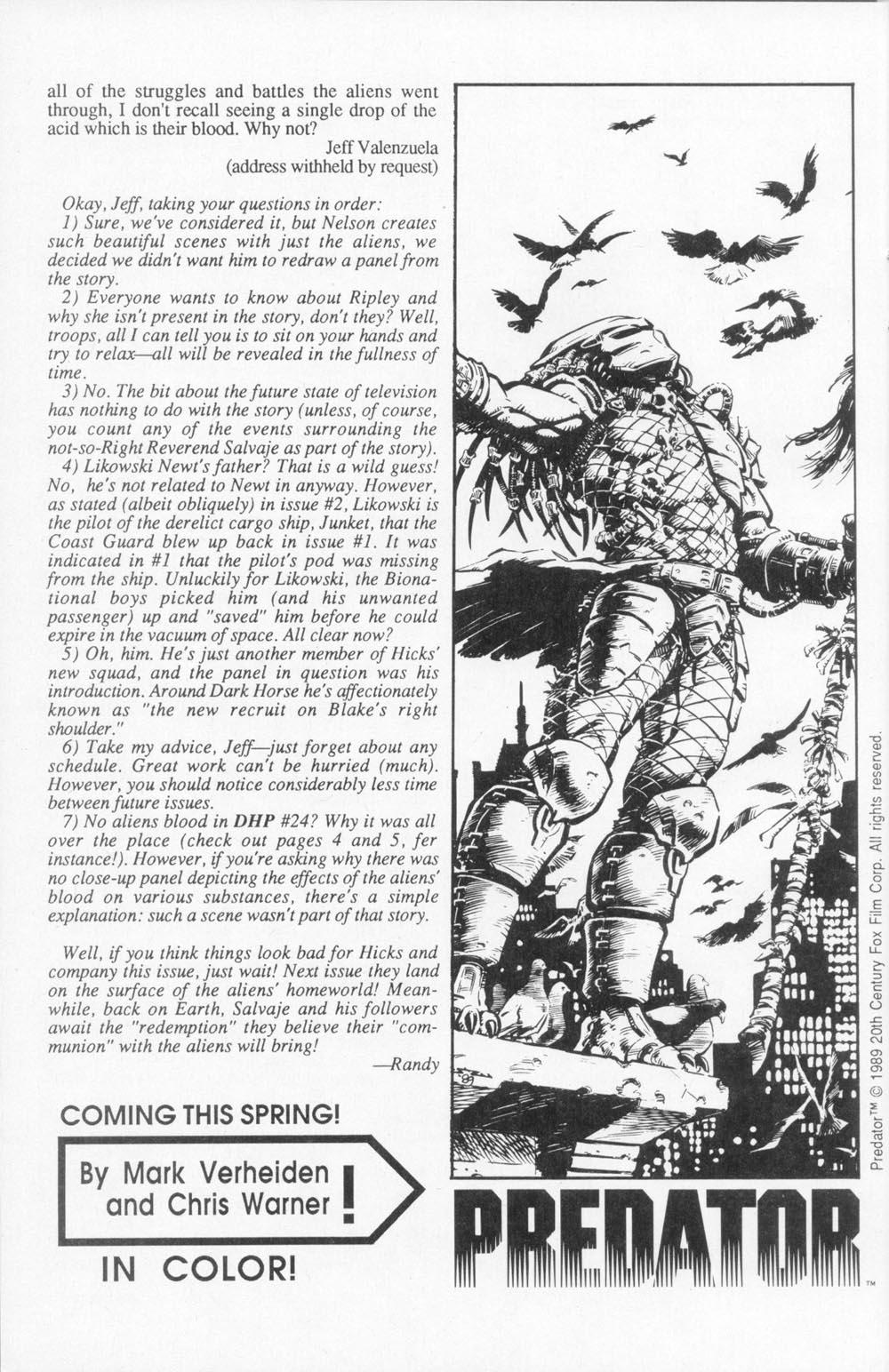 Read online Aliens (1988) comic -  Issue #4 - 30