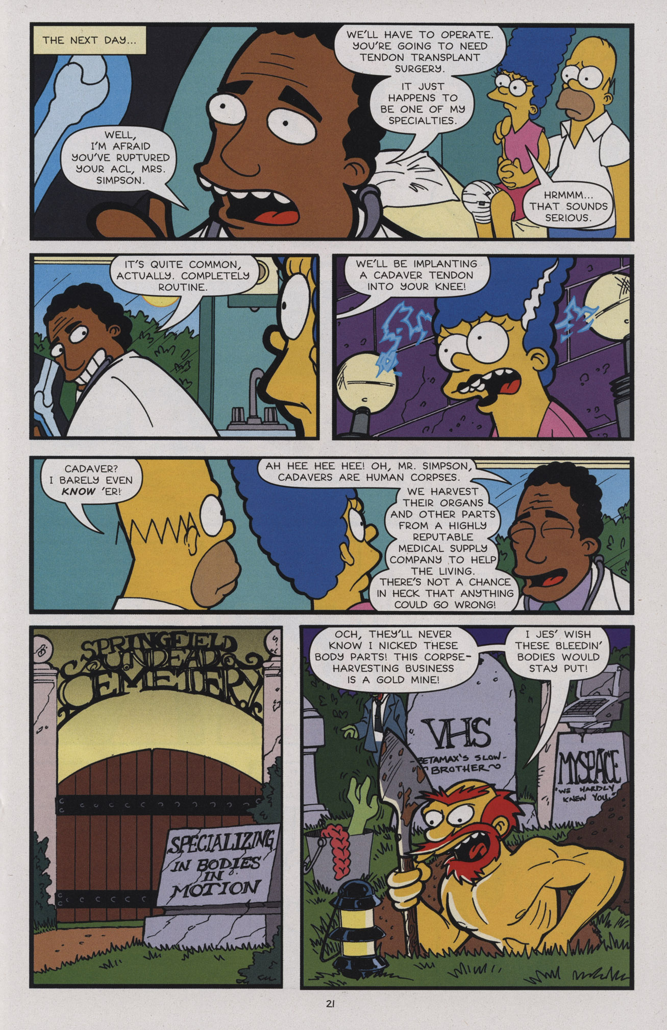 Read online Treehouse of Horror comic -  Issue #17 - 24