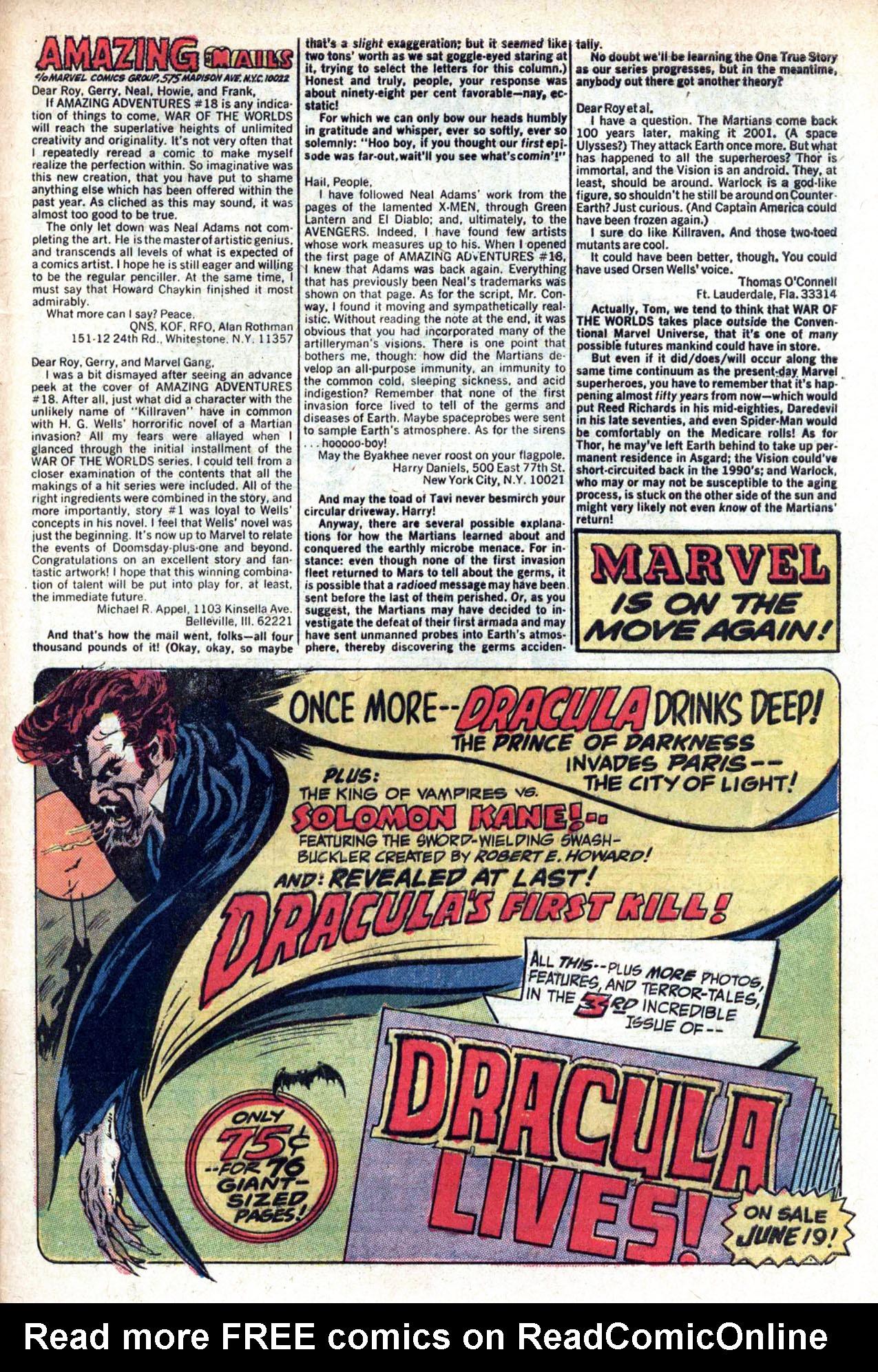 Read online Amazing Adventures (1970) comic -  Issue #20 - 33