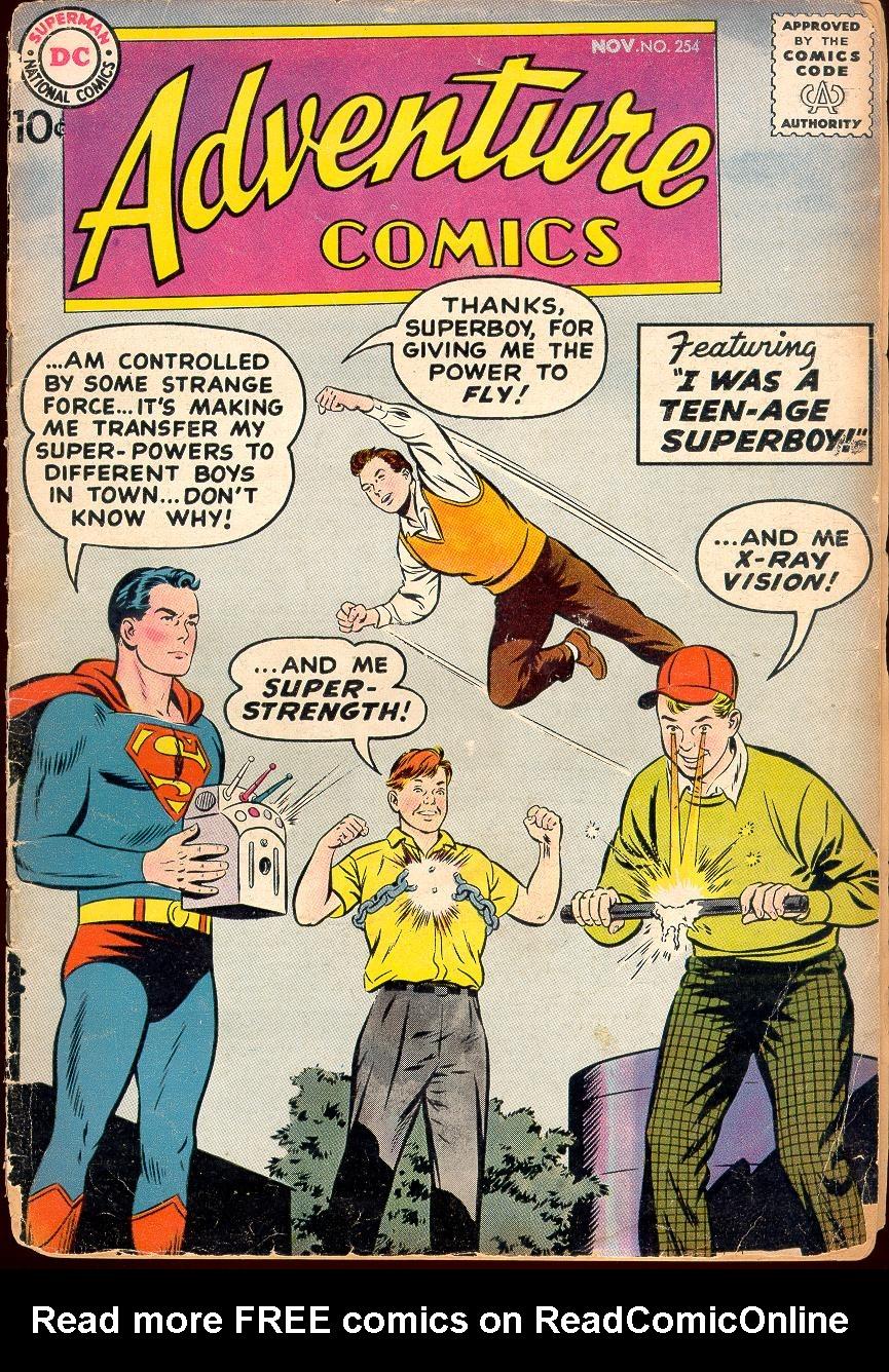 Read online Adventure Comics (1938) comic -  Issue #254 - 1
